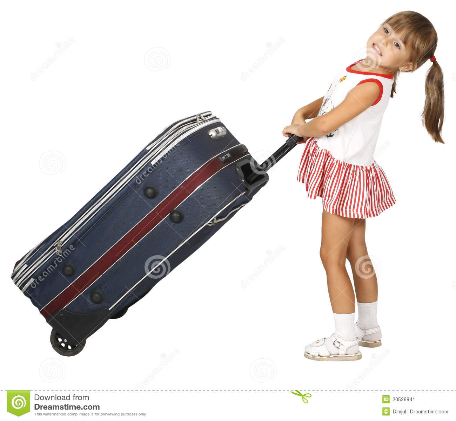 儿童皮箱下拉式