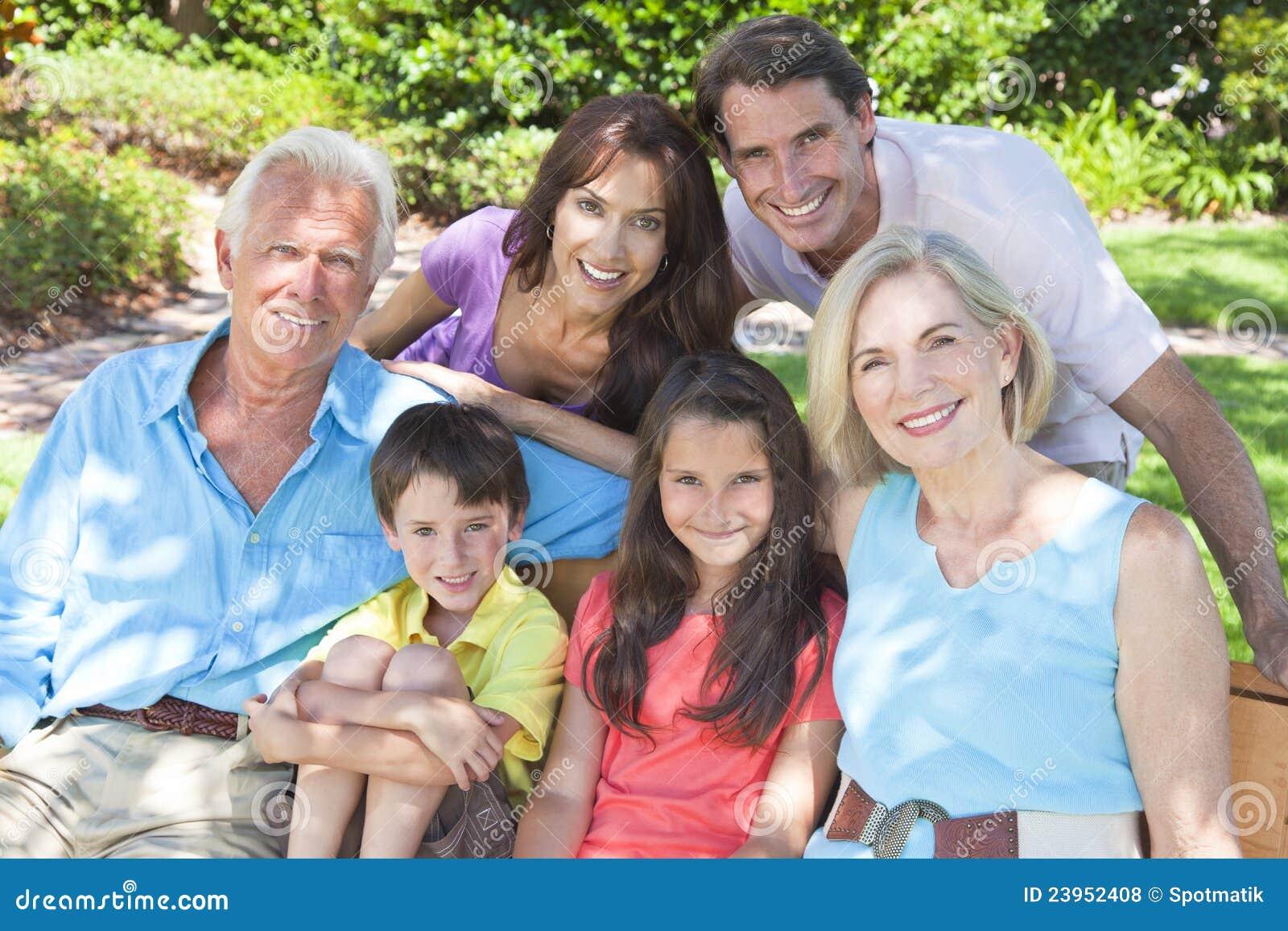 儿童系列祖父项愉快的外部父项