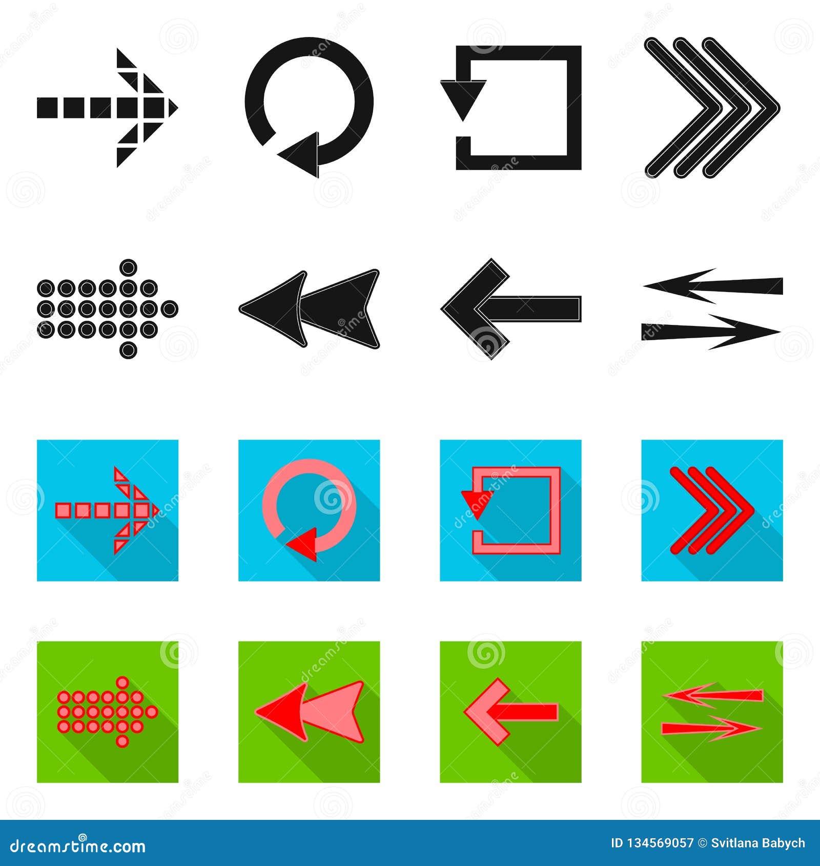 元素和箭头标志传染媒介设计  套元素和股票的方向向量象