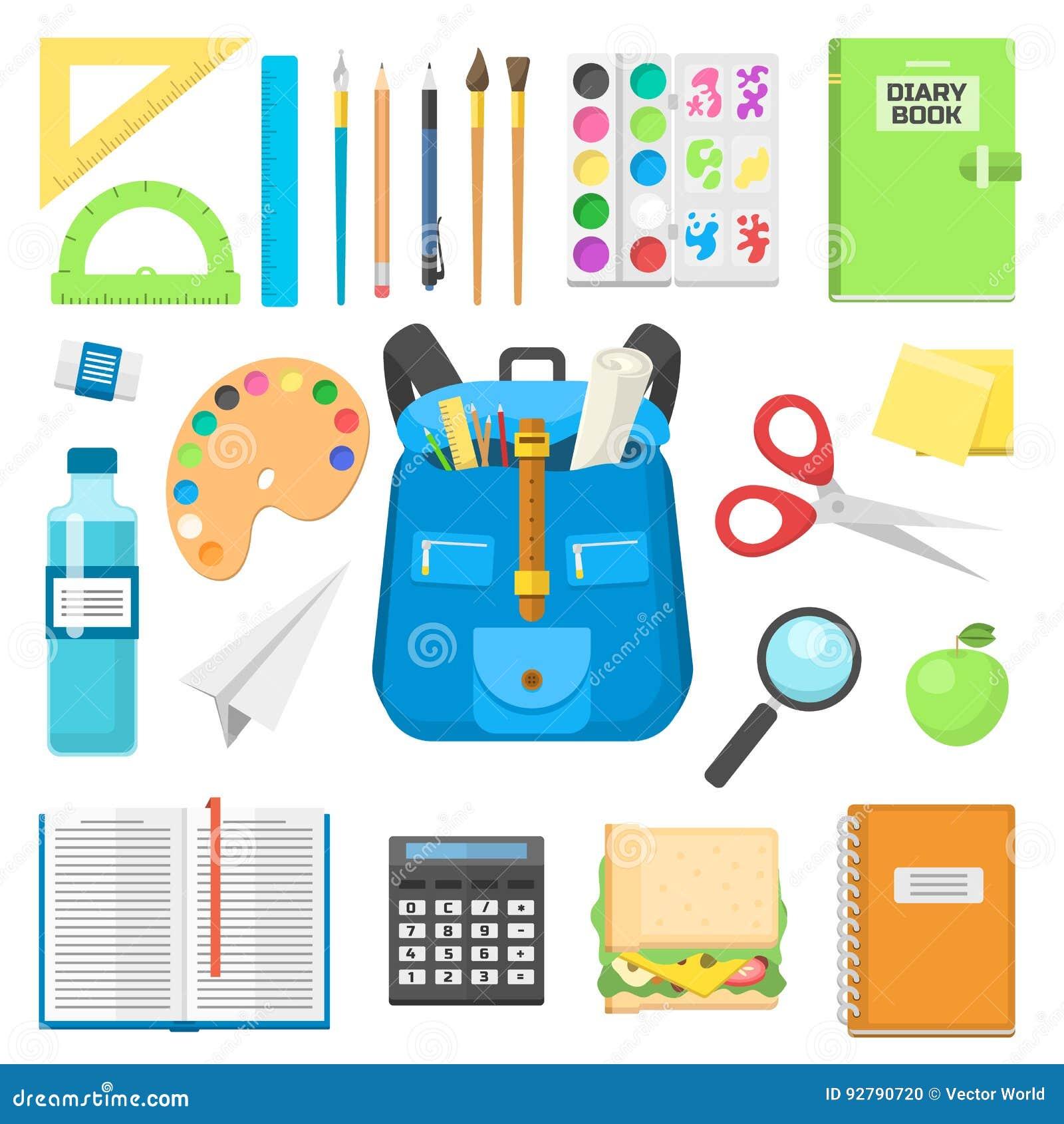 充分书包背包供应儿童固定式拉链教育大袋传染媒介例证