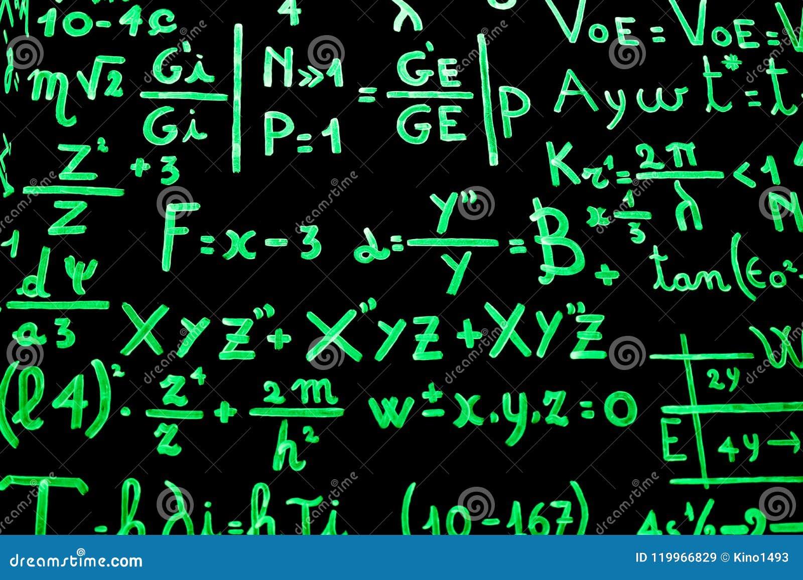 充分黑板数学等式写以磷光性油漆促进学习