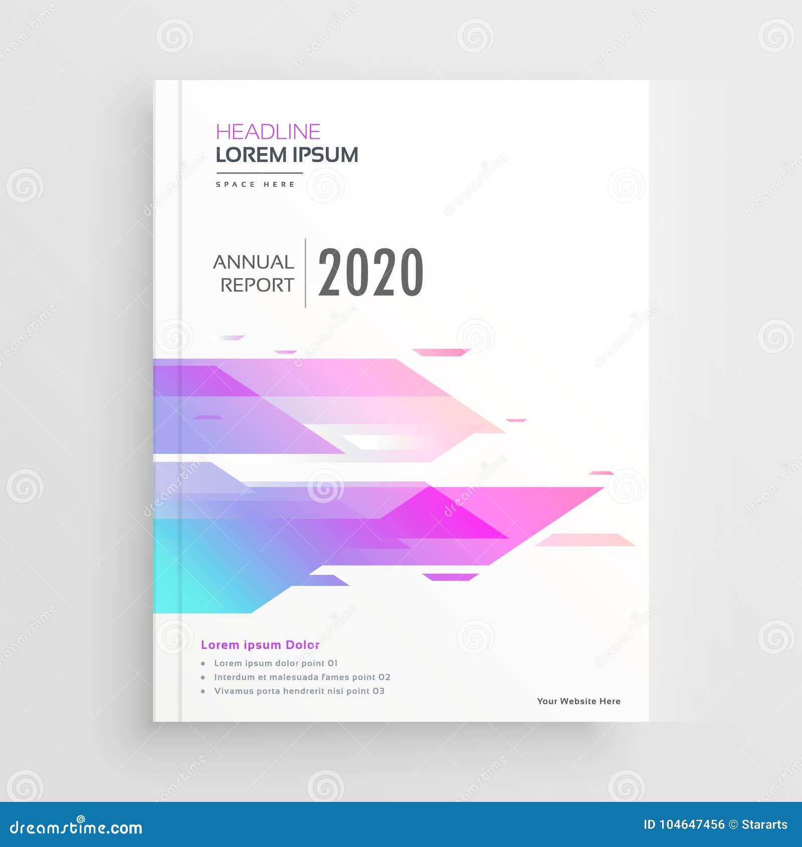 充满活力的抽象形状公司企业小册子设计模板