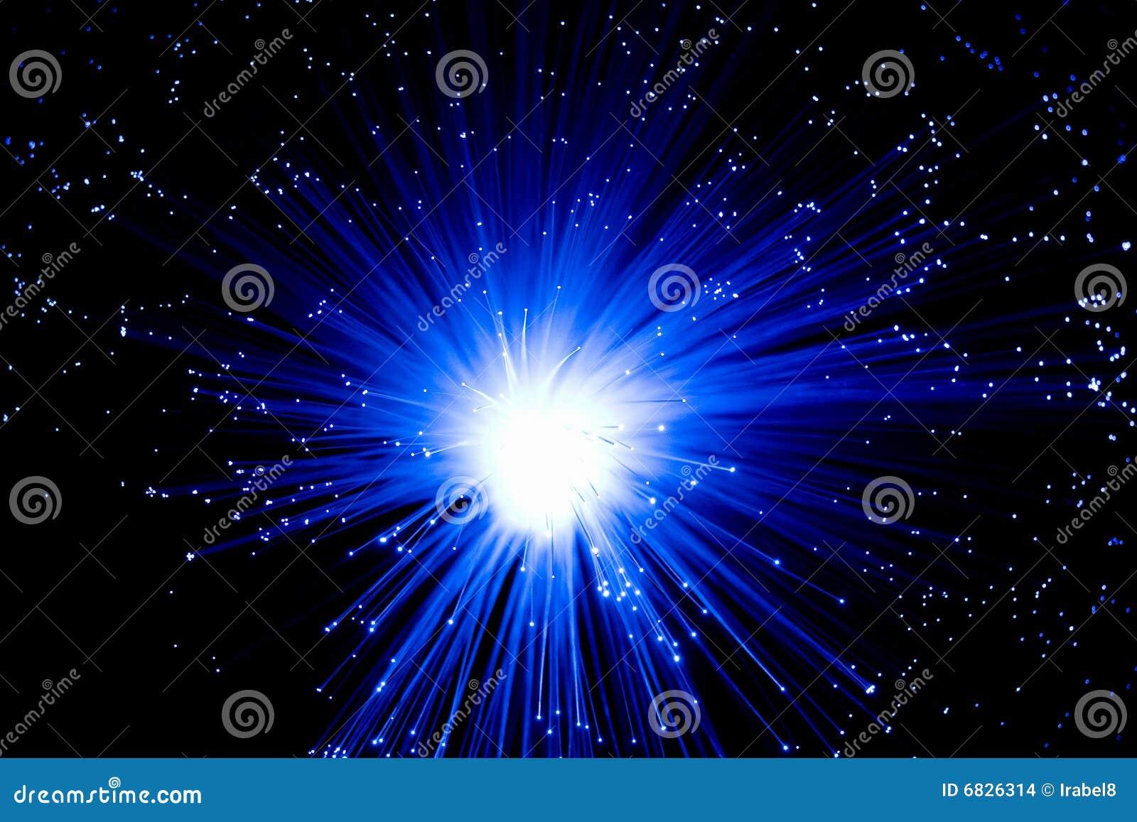 光学蓝色的纤维