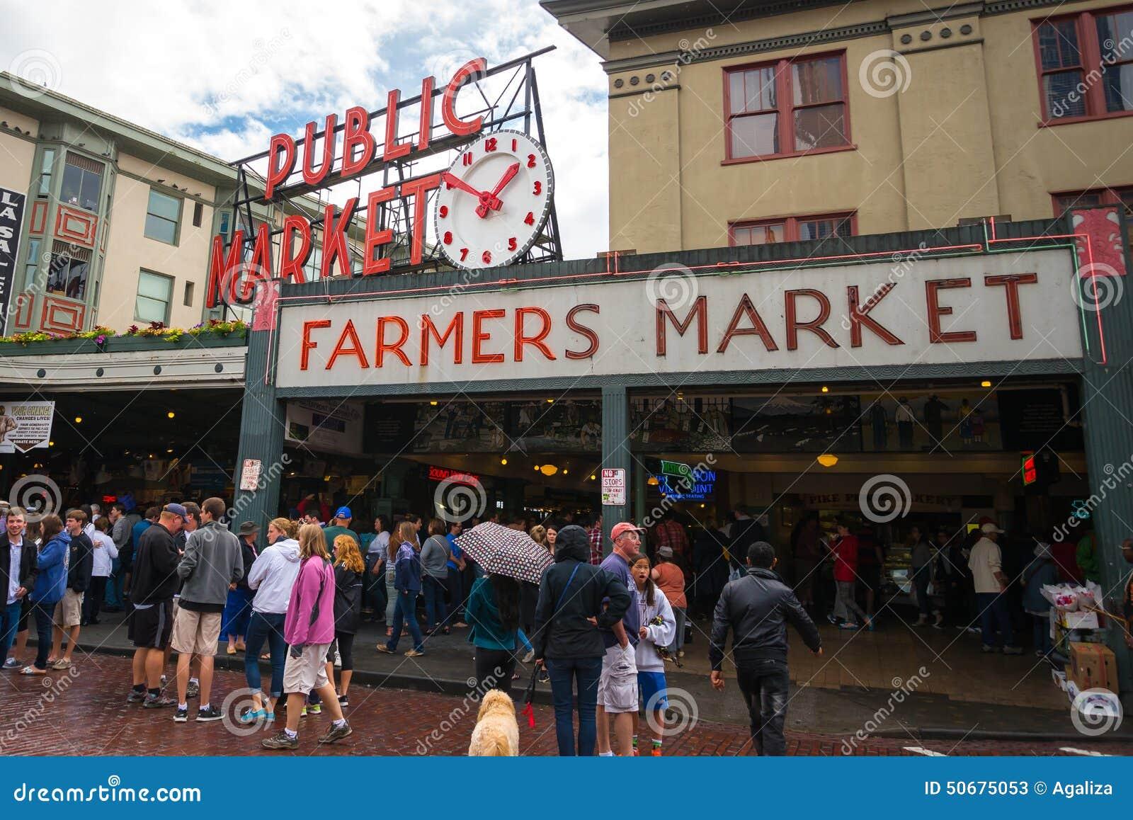Download 派克位置公开市场在西雅图,华盛顿 编辑类库存照片. 图片 包括有 照亮, 城市, 食物, 人们, 有历史 - 50675053