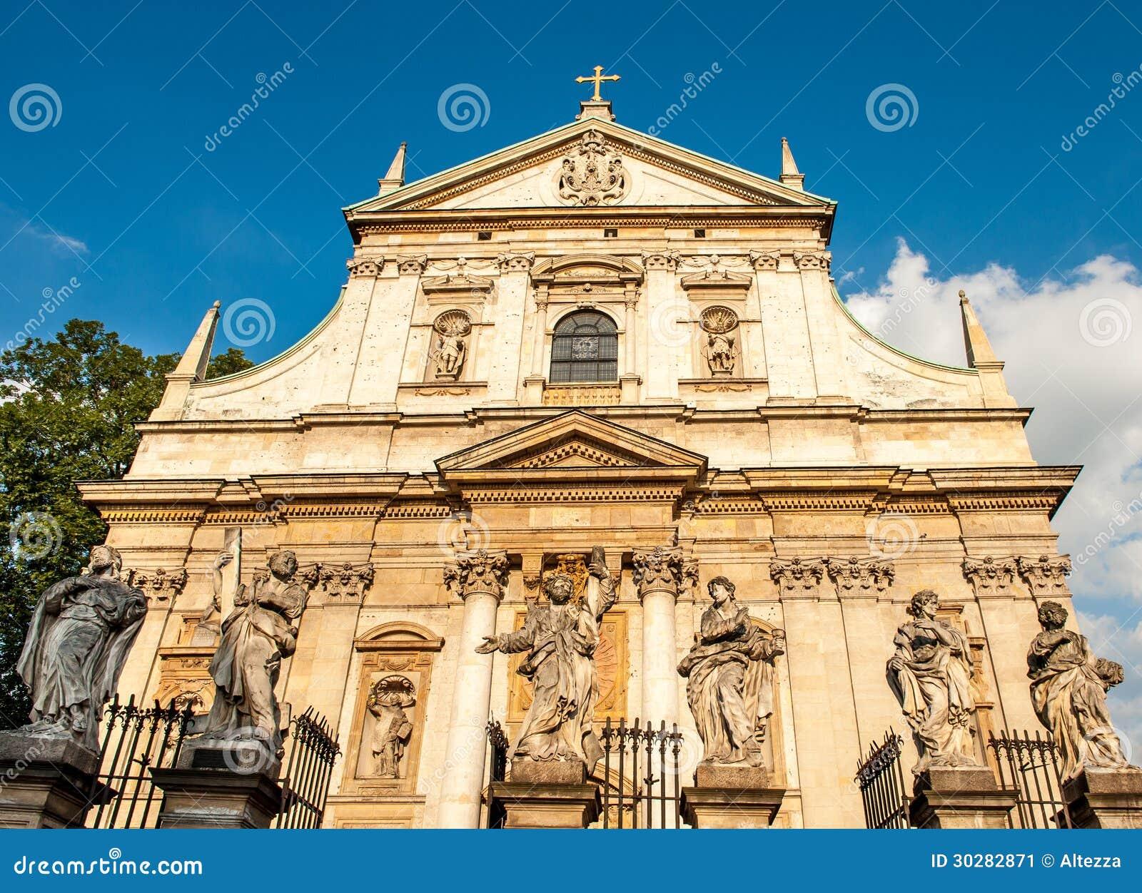 圣皮特和圣保罗的教会在克拉科夫,波兰