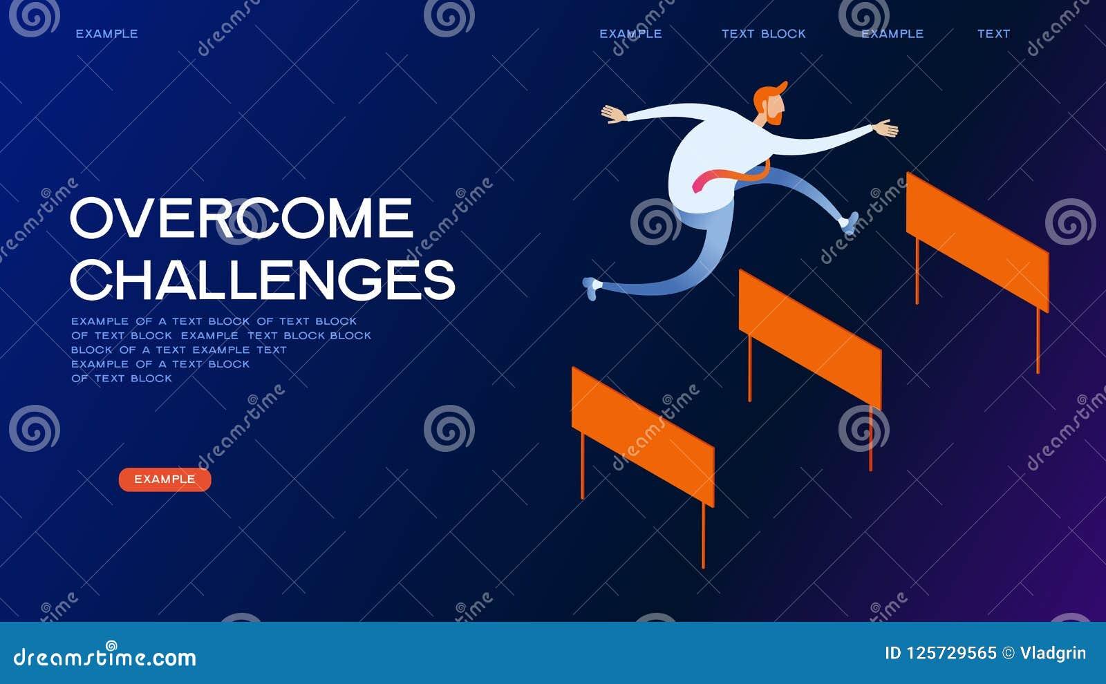 克服挑战等量概念横幅