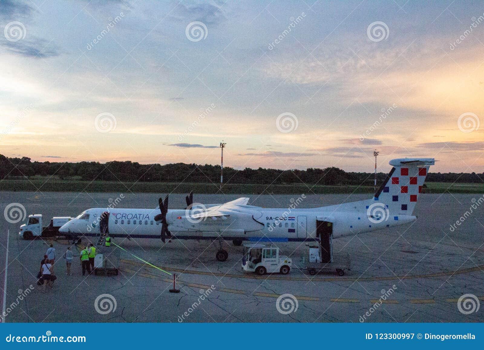 克罗地亚航空公司破折号Q400 9A-CQC