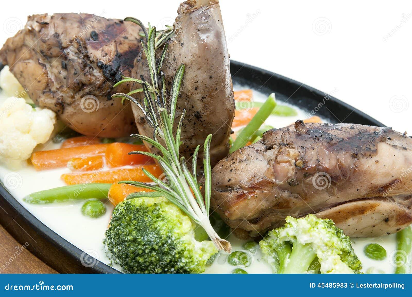 兔子肉和土豆