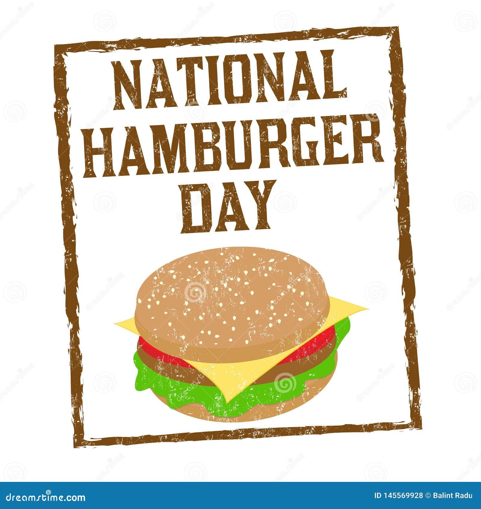 全国汉堡包天标志或邮票