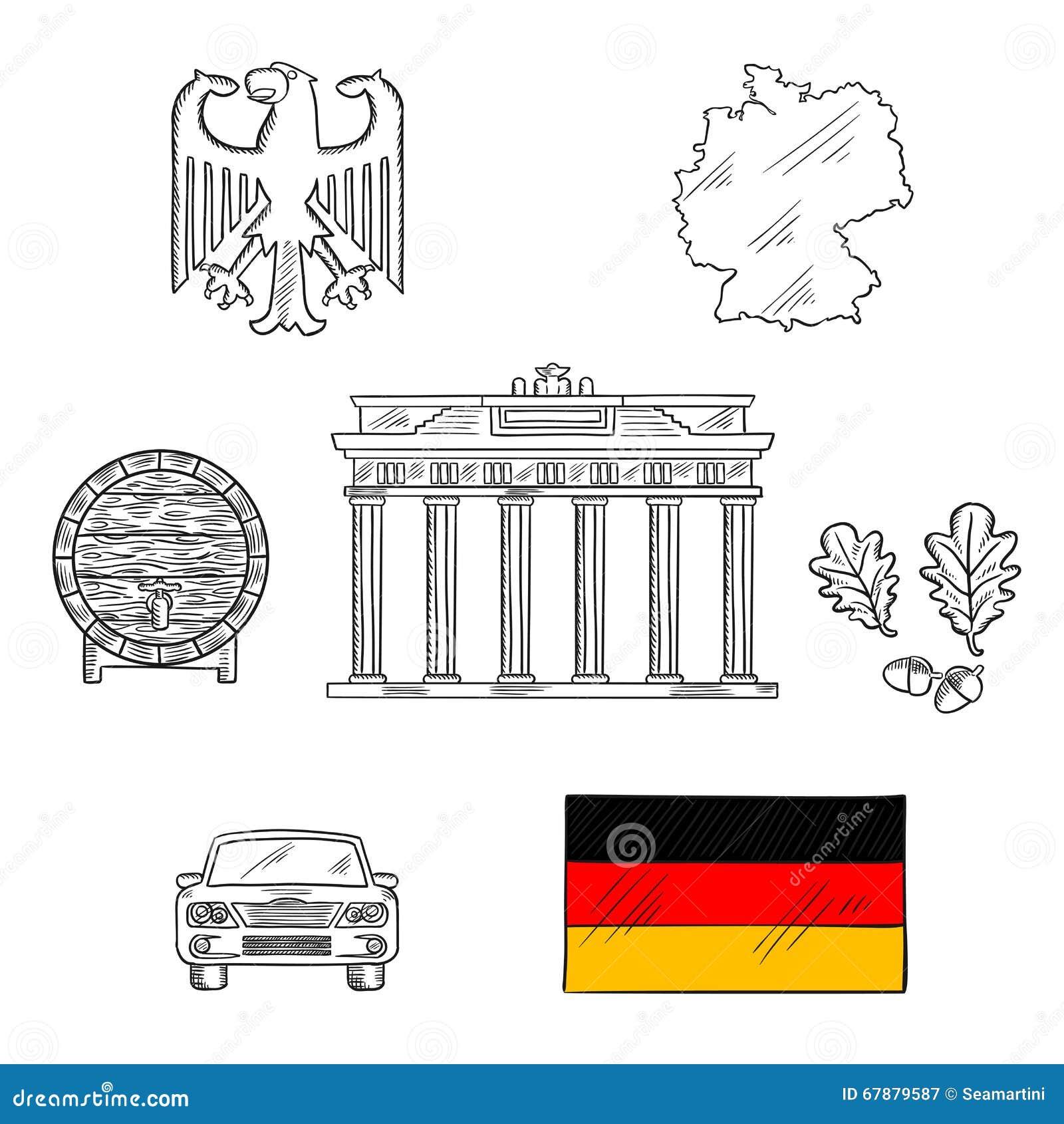 全国的德国和旅行象
