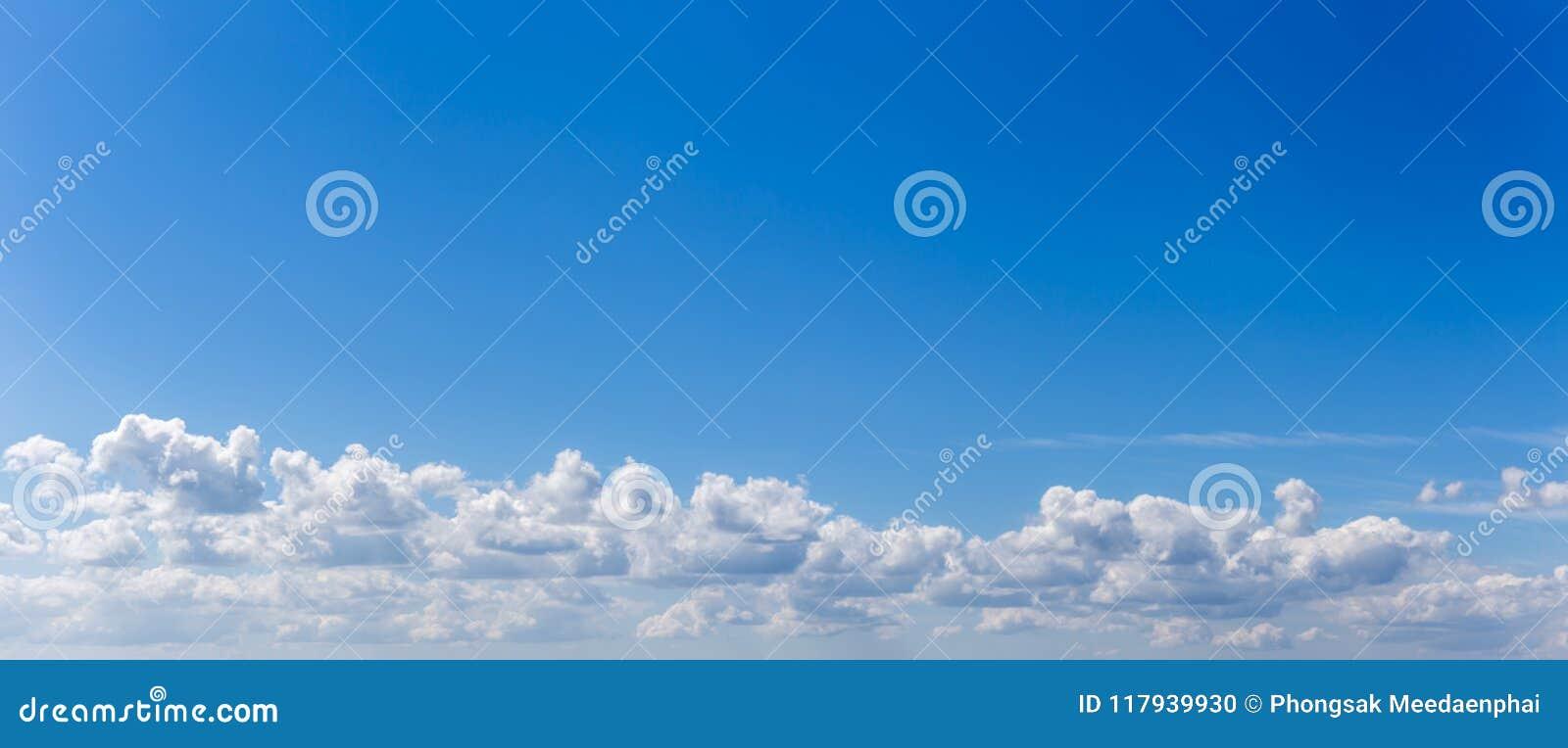 全景或蓝天全景照片和云彩或者cloudscape