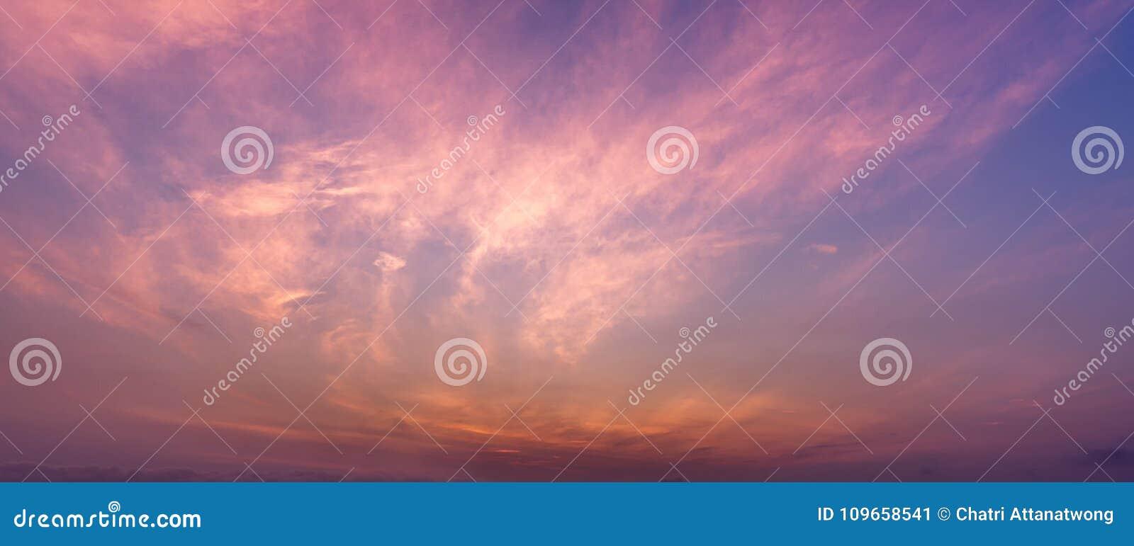 全景暮色天空和卷云场面的Bbackground图片