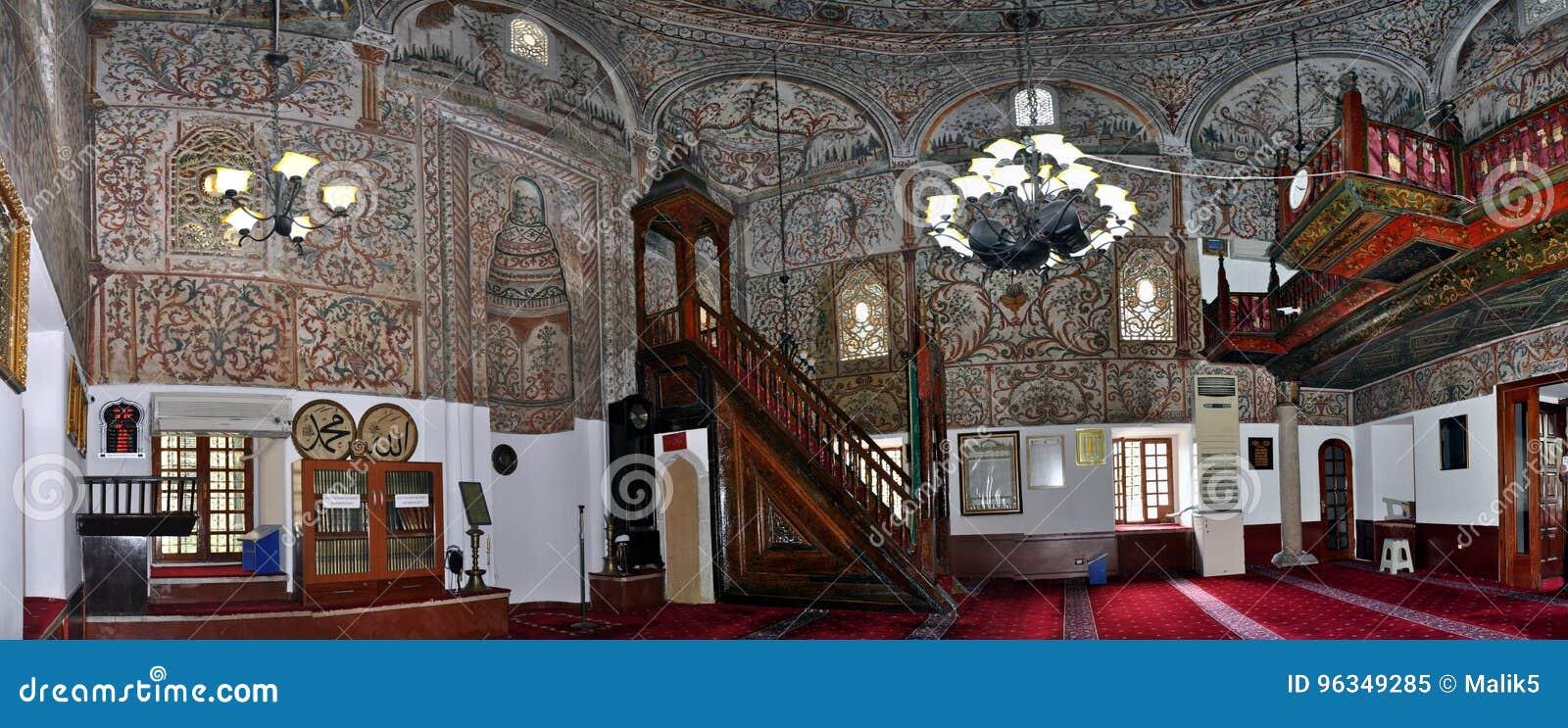全景, Ethem土侯清真寺,地拉纳里面圆顶
