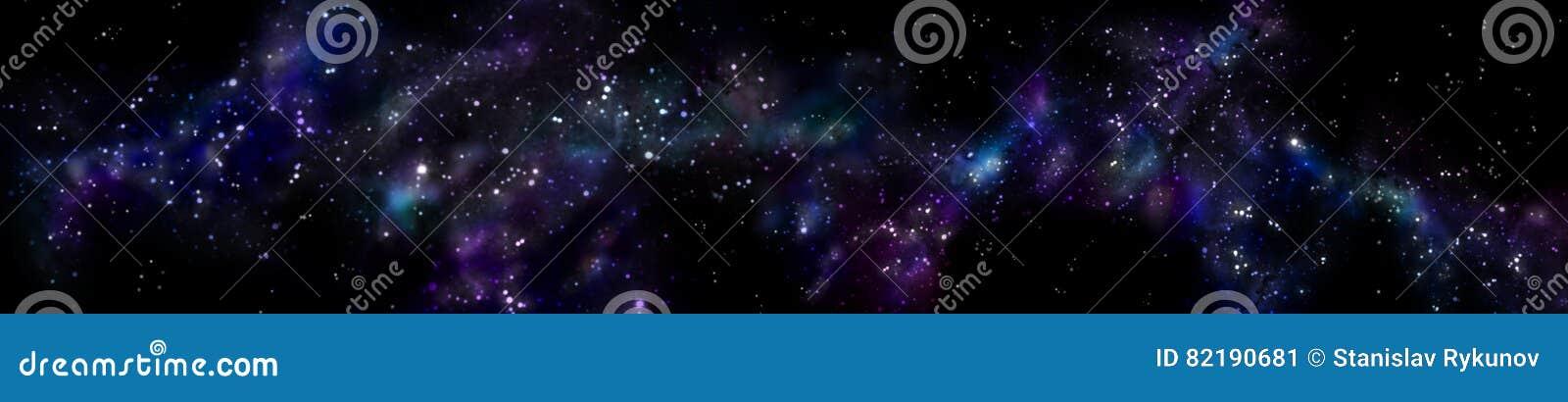 全景满天星斗的风景 宇宙的全景