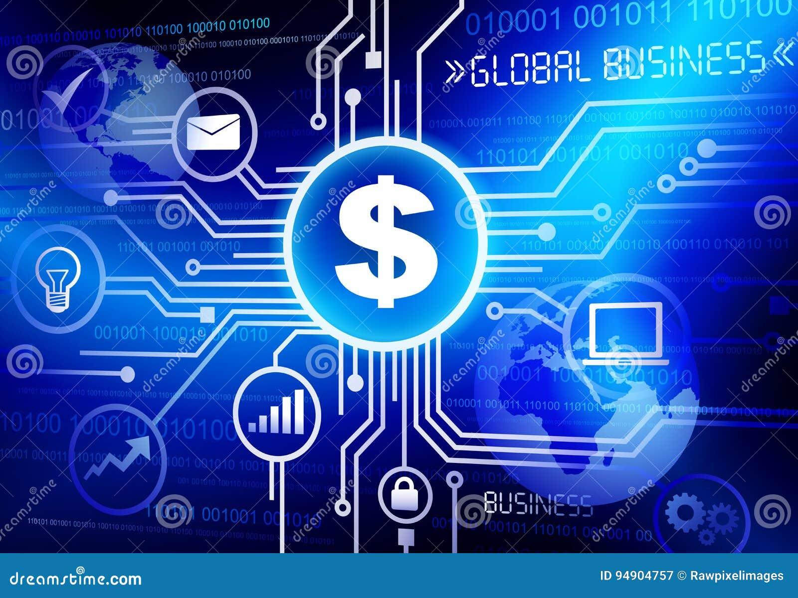 全球企业流程图系统概念