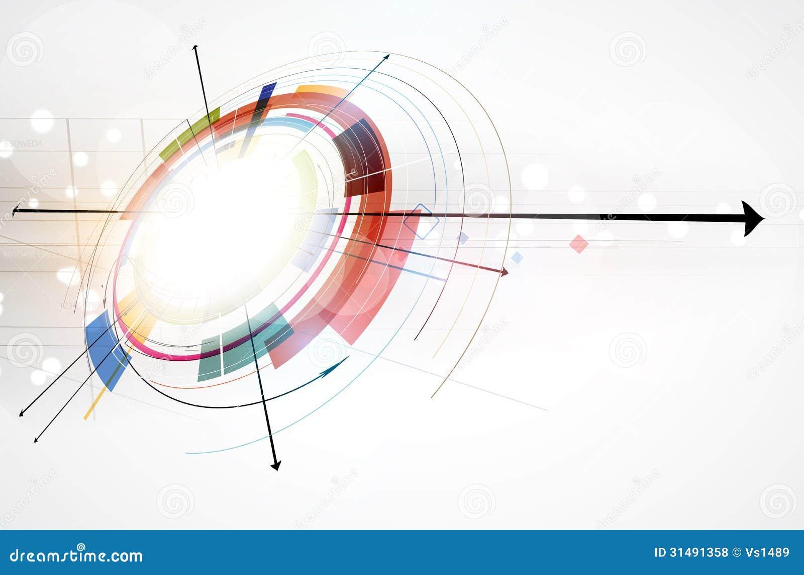 全球性无限计算机科技概念企业背景