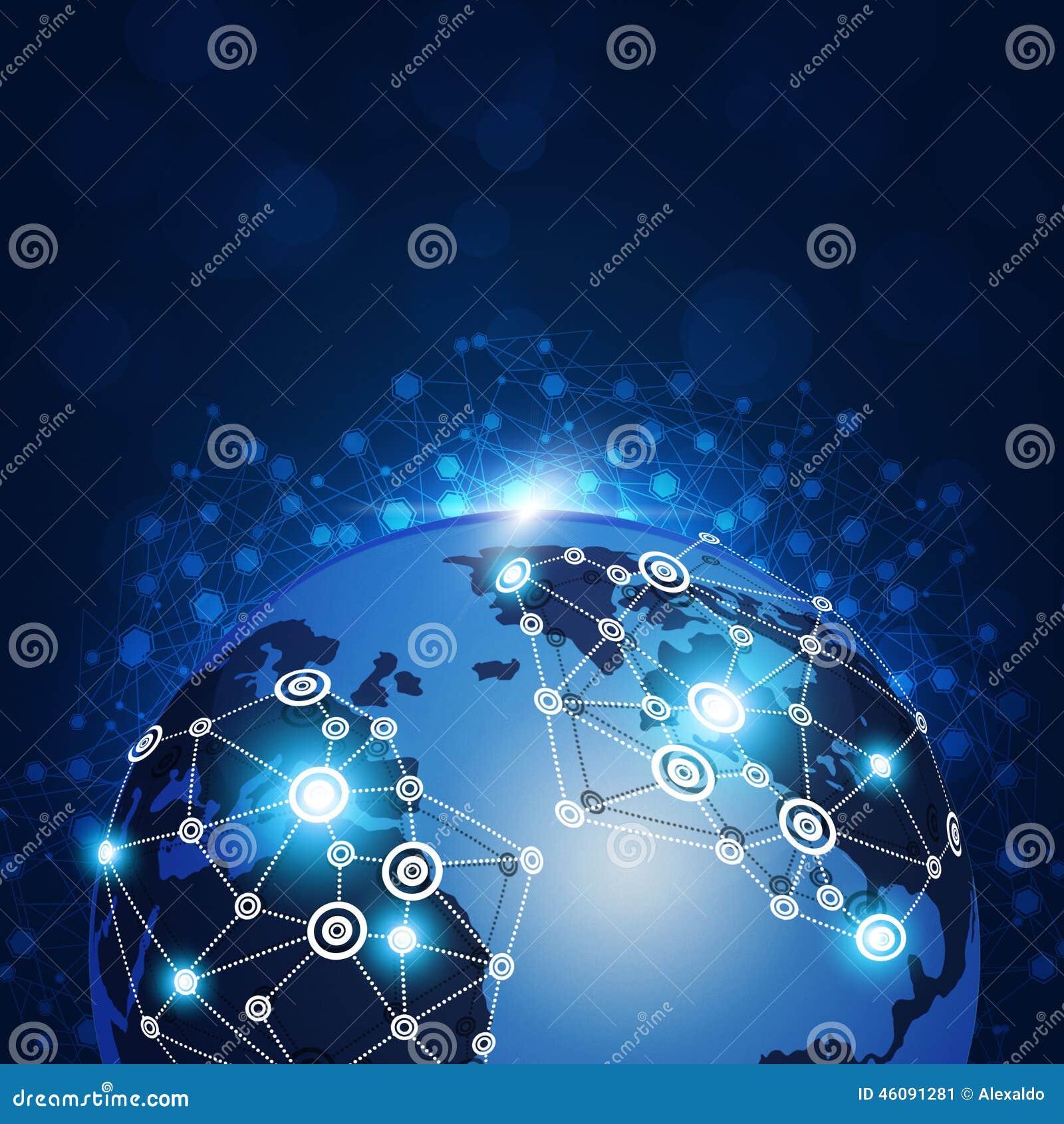 全球性网连接图片
