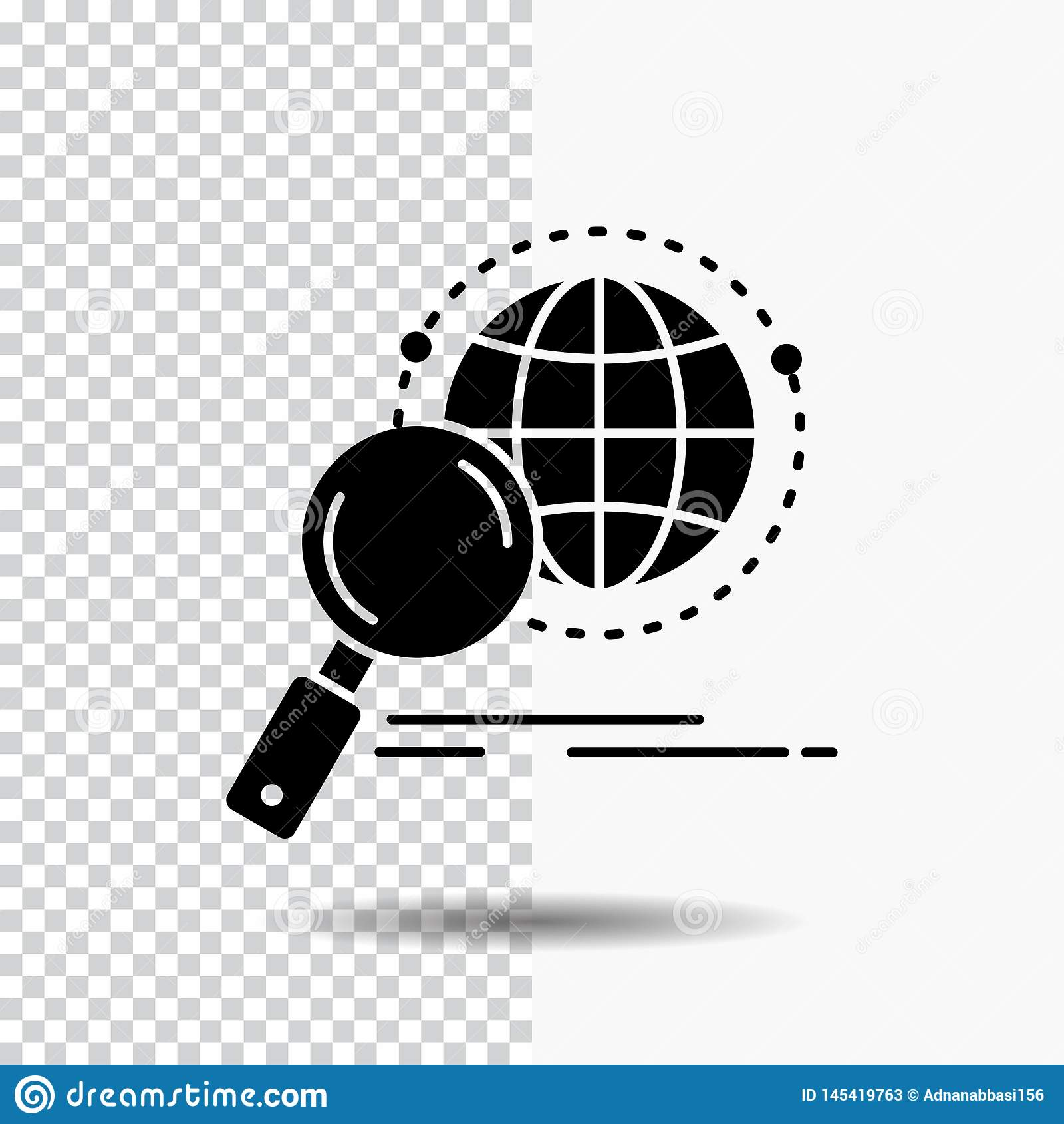 全球性,地球,放大器,研究,世界在透明背景的纵的沟纹象 ??