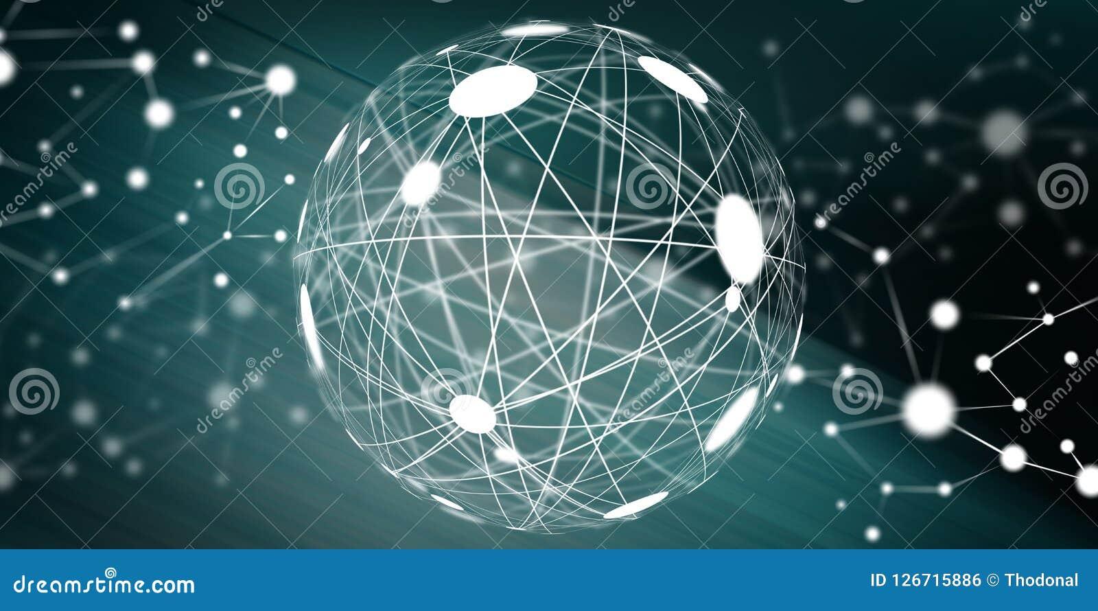 全球概念的连接数 向量例证