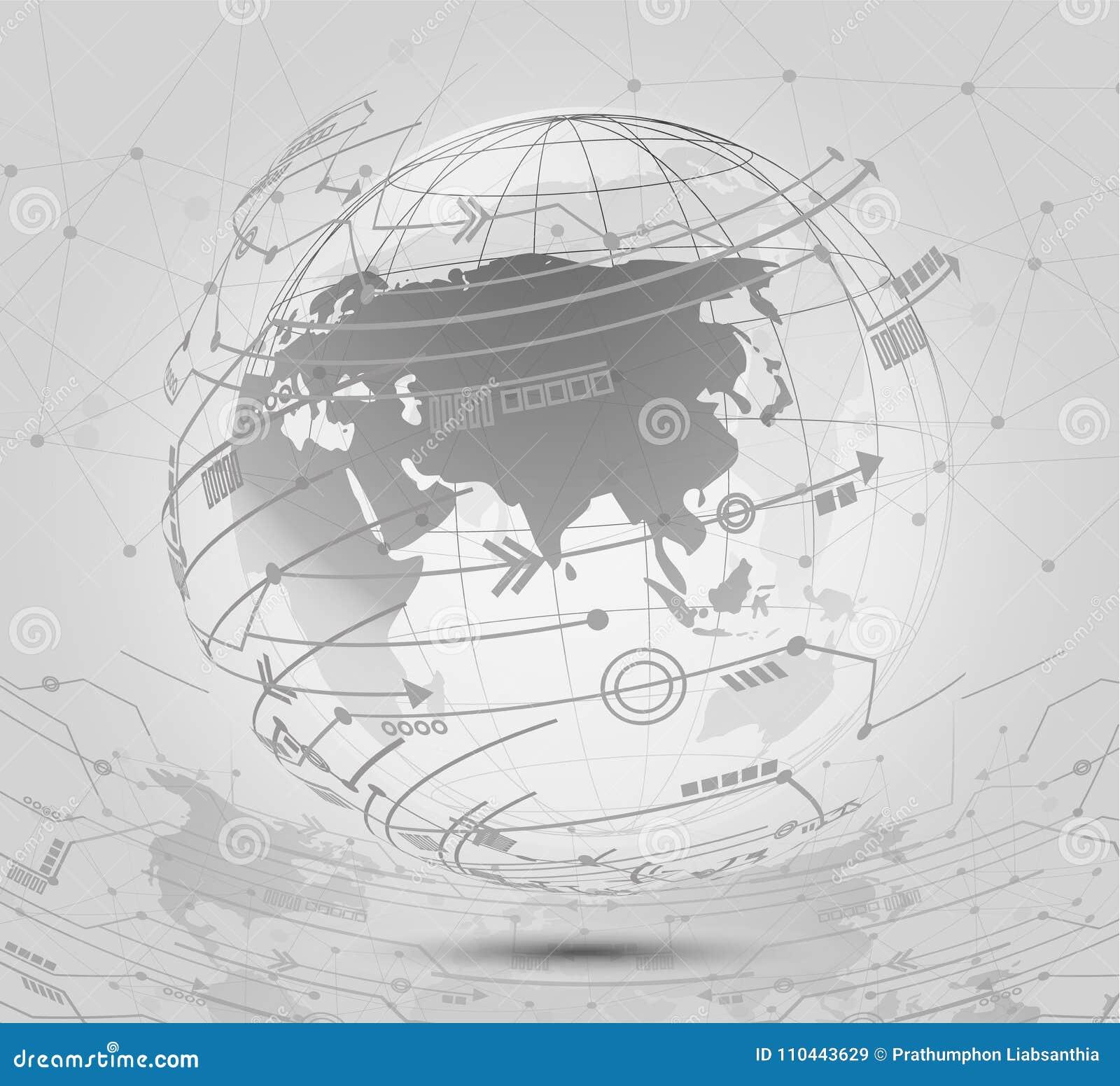 全球网络连接象指向并且标示用社会骗局
