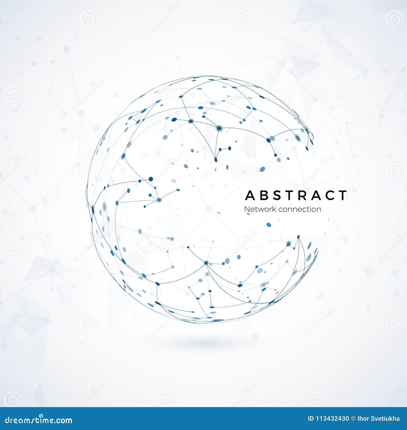 全球网络连接 抽象世界wireframe、点和线全球性网的构成概念
