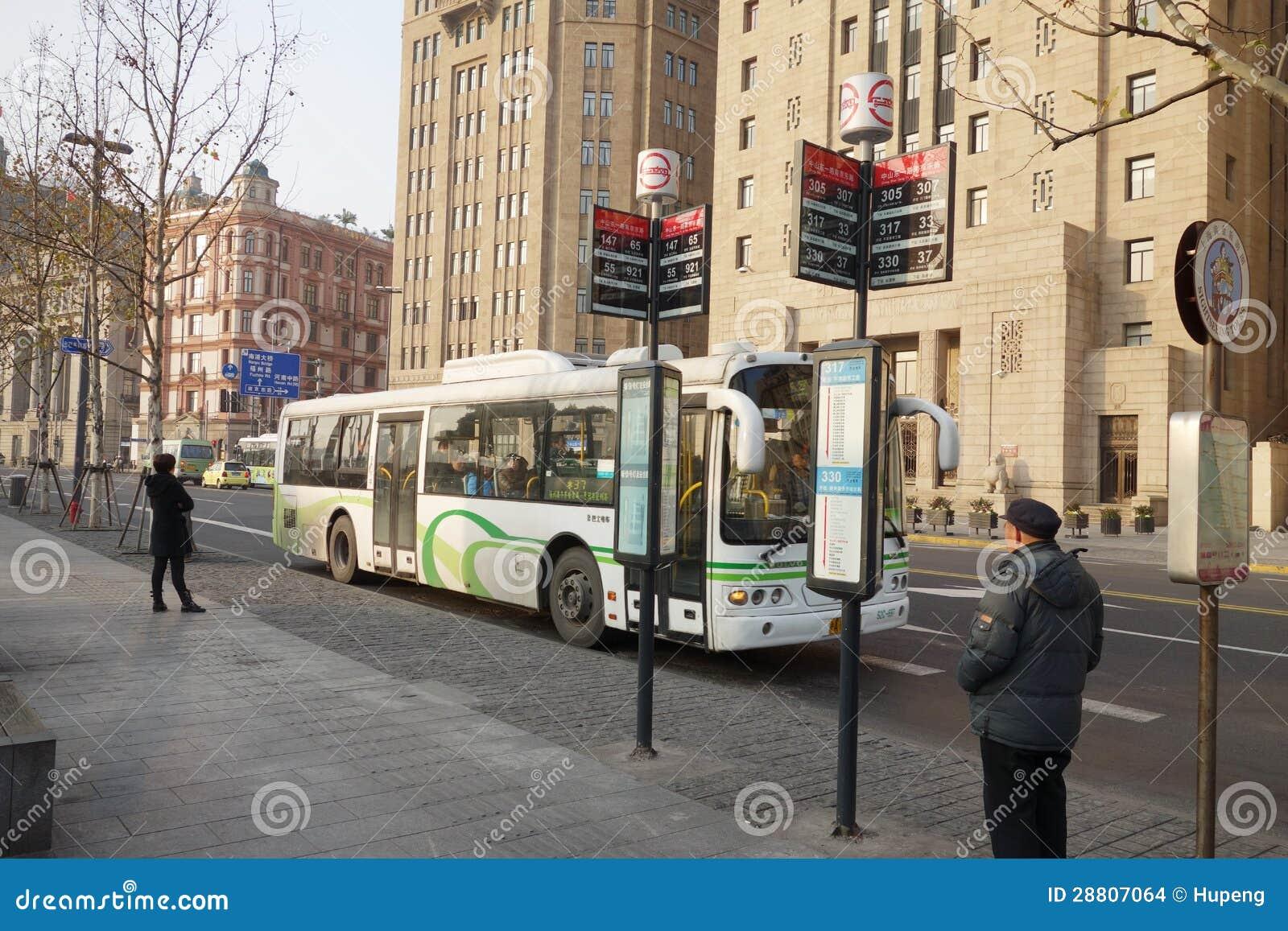 公共汽车站 在 上海 编辑类库存图片 288高清图片