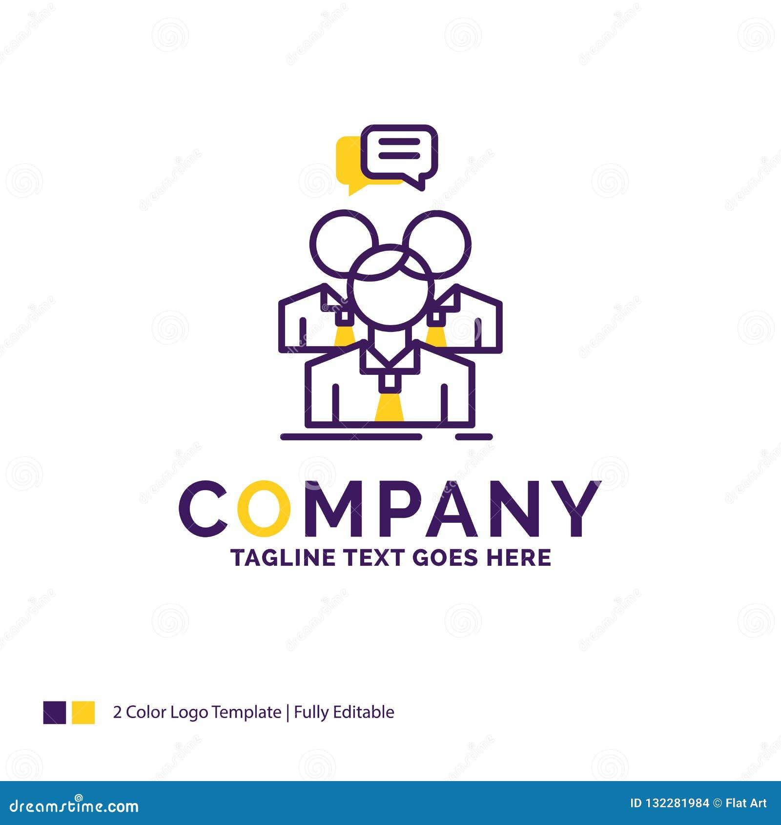 公司名称小组的,事务,会议,人们,t商标设计