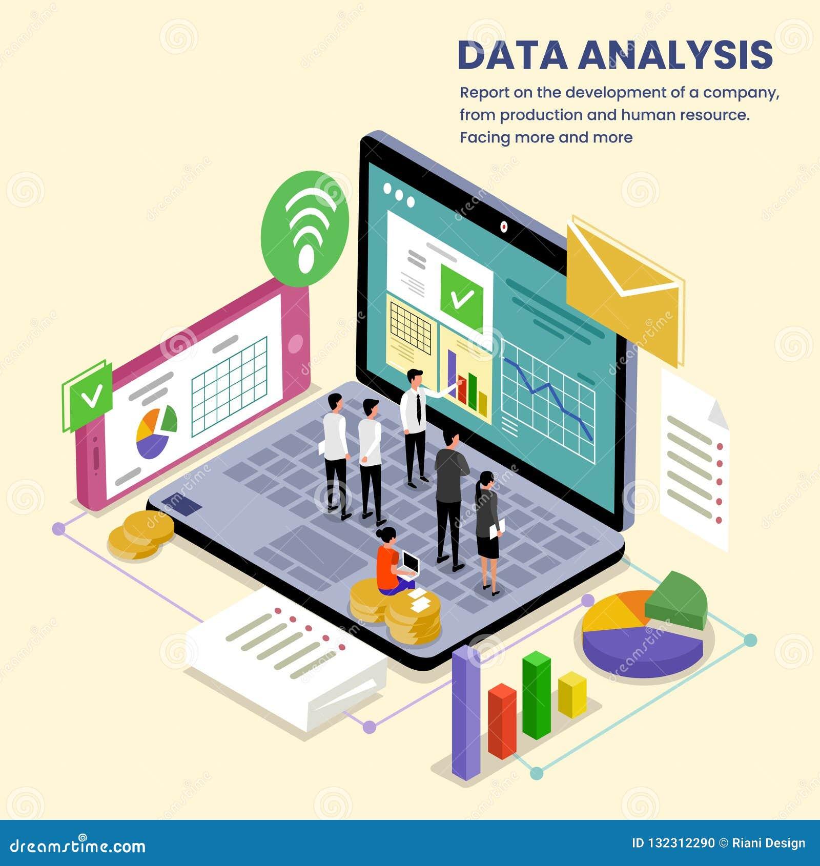 公司数据分析等量例证