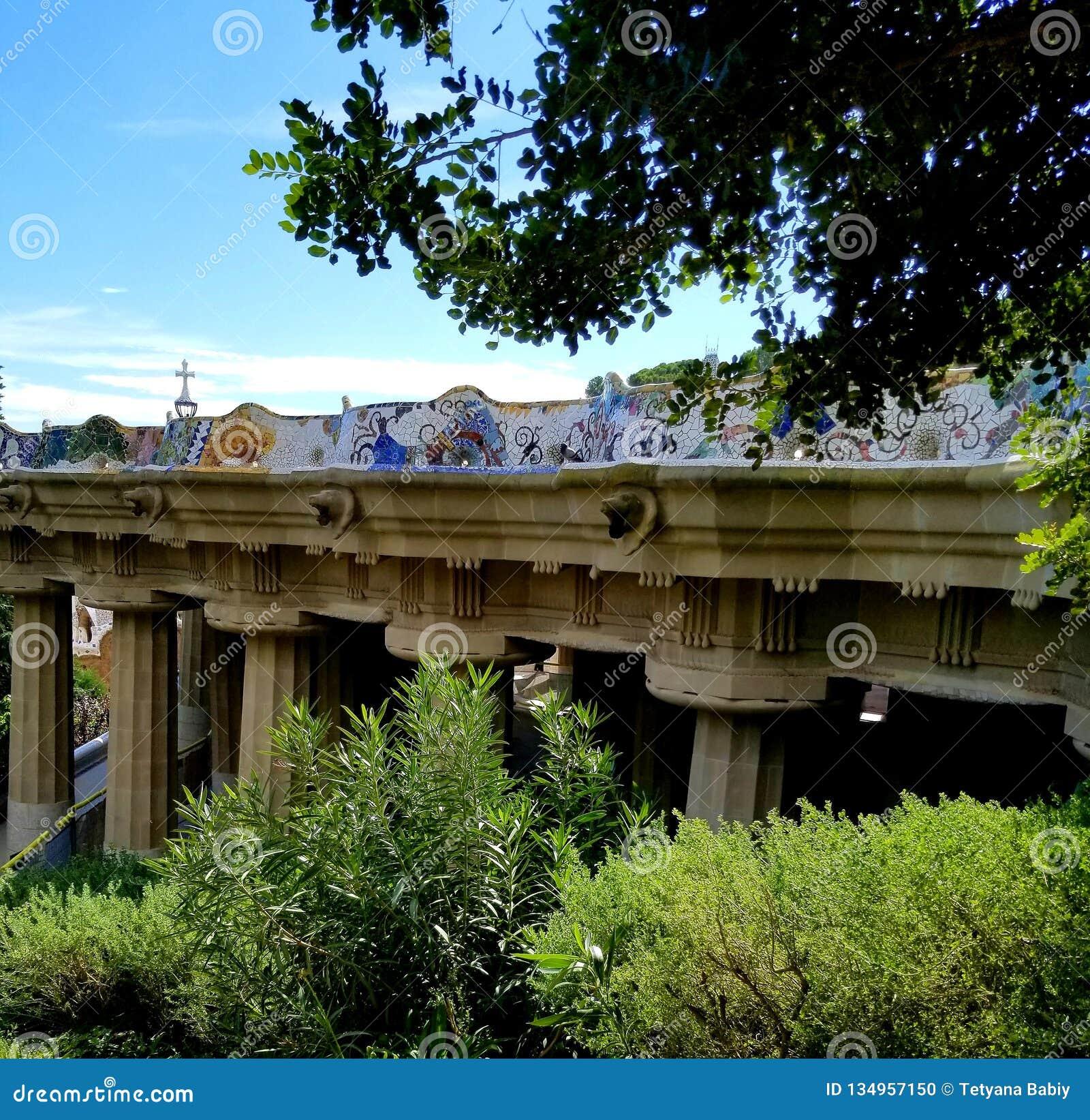 公园Guell巴塞罗那-惊人的看法!