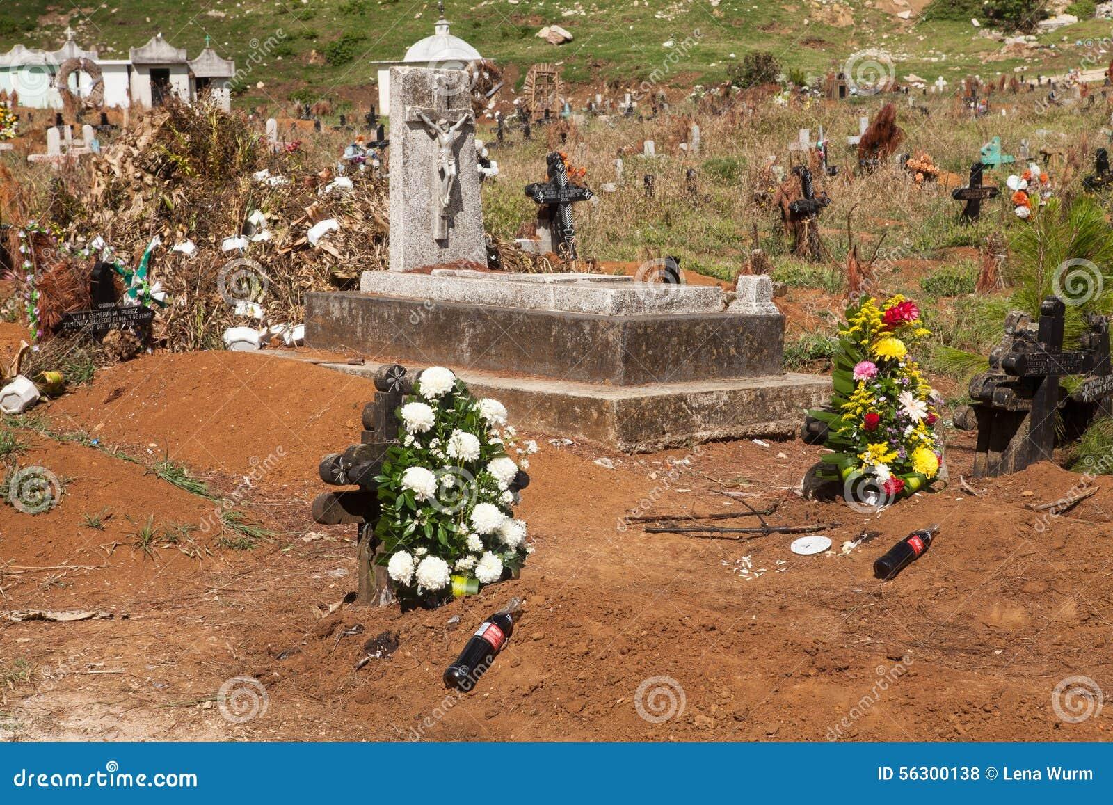 公墓在圣胡安Chamula,恰帕斯州,墨西哥