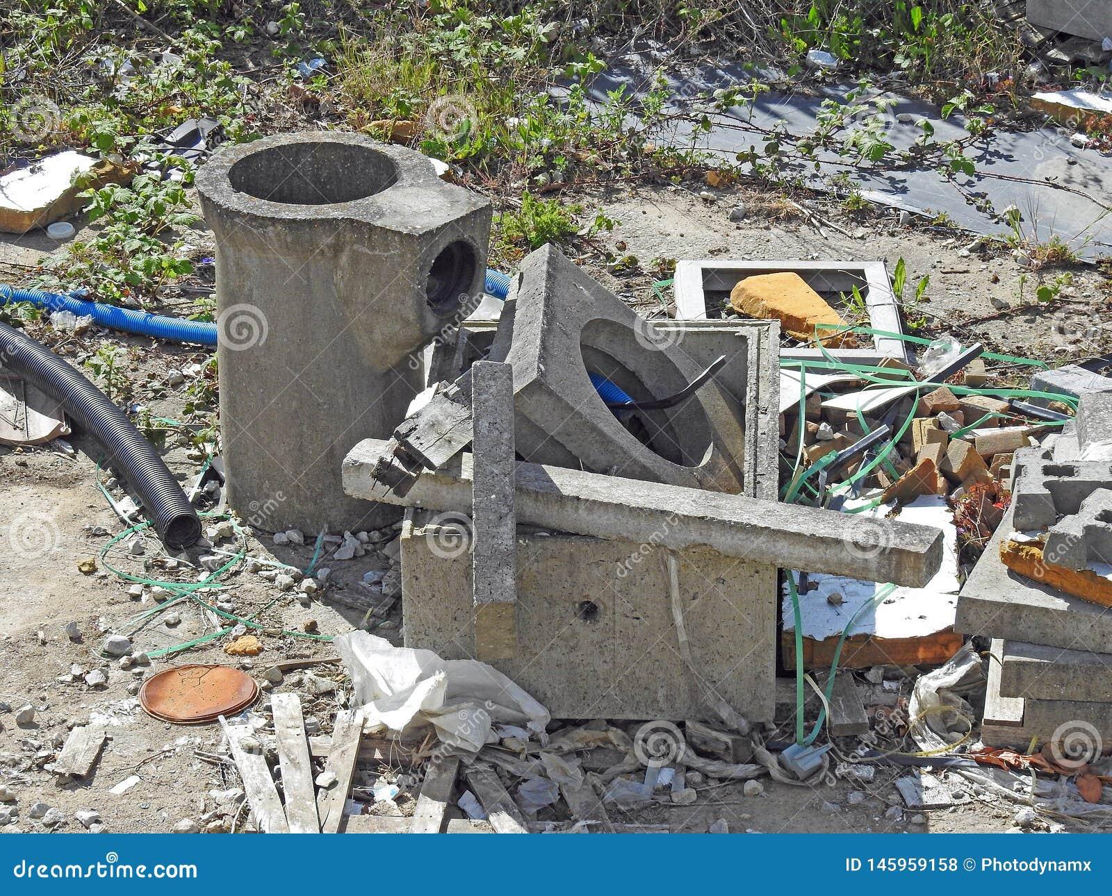 公害损伤垃圾垃圾站点油罐头打翻大厦