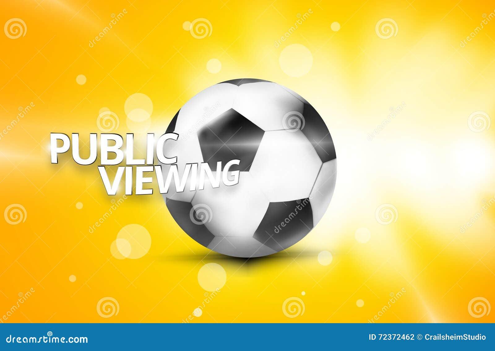 公开观察橄榄球足球3D
