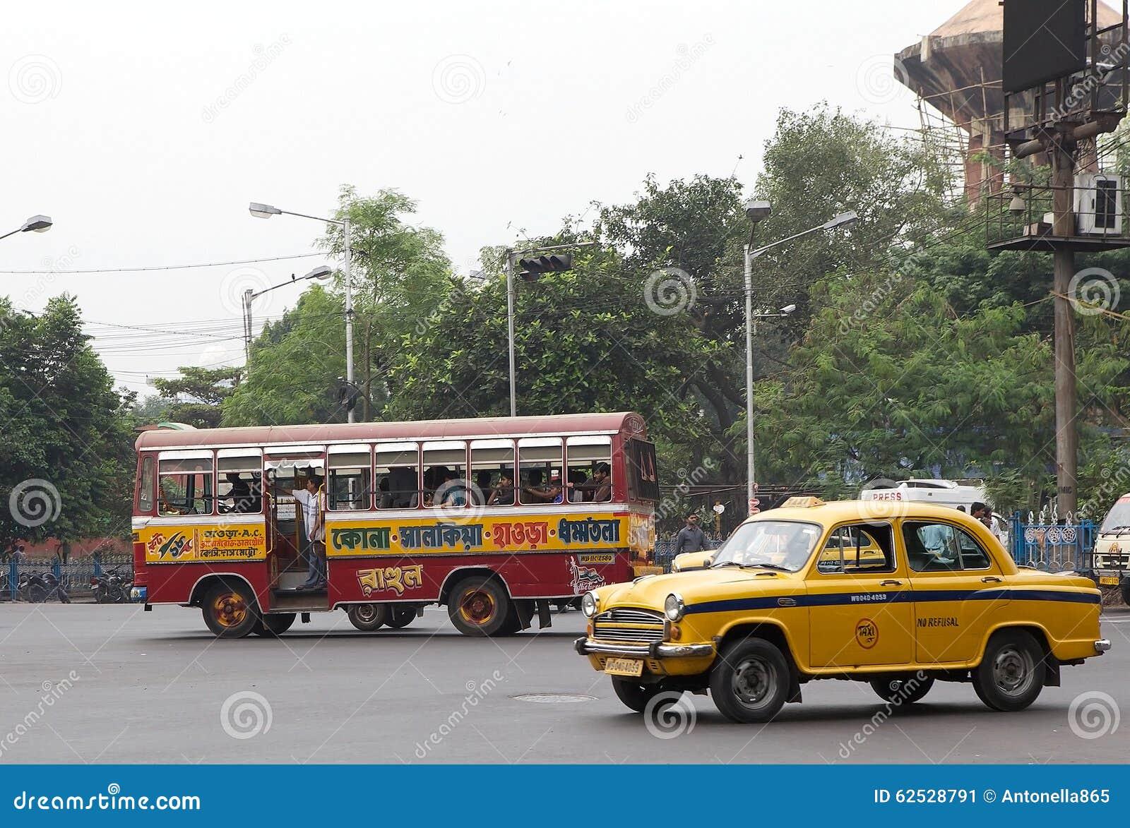 公路运输在加尔各答,印度