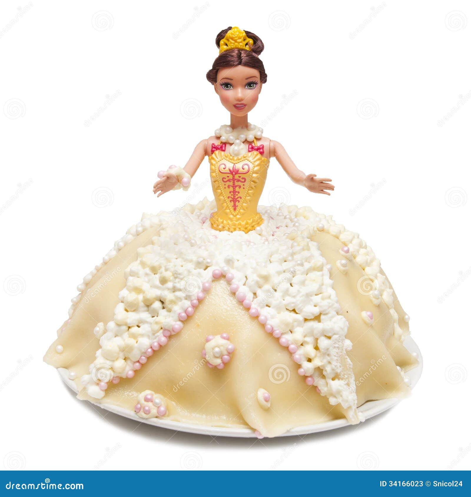 公主玩偶蛋糕