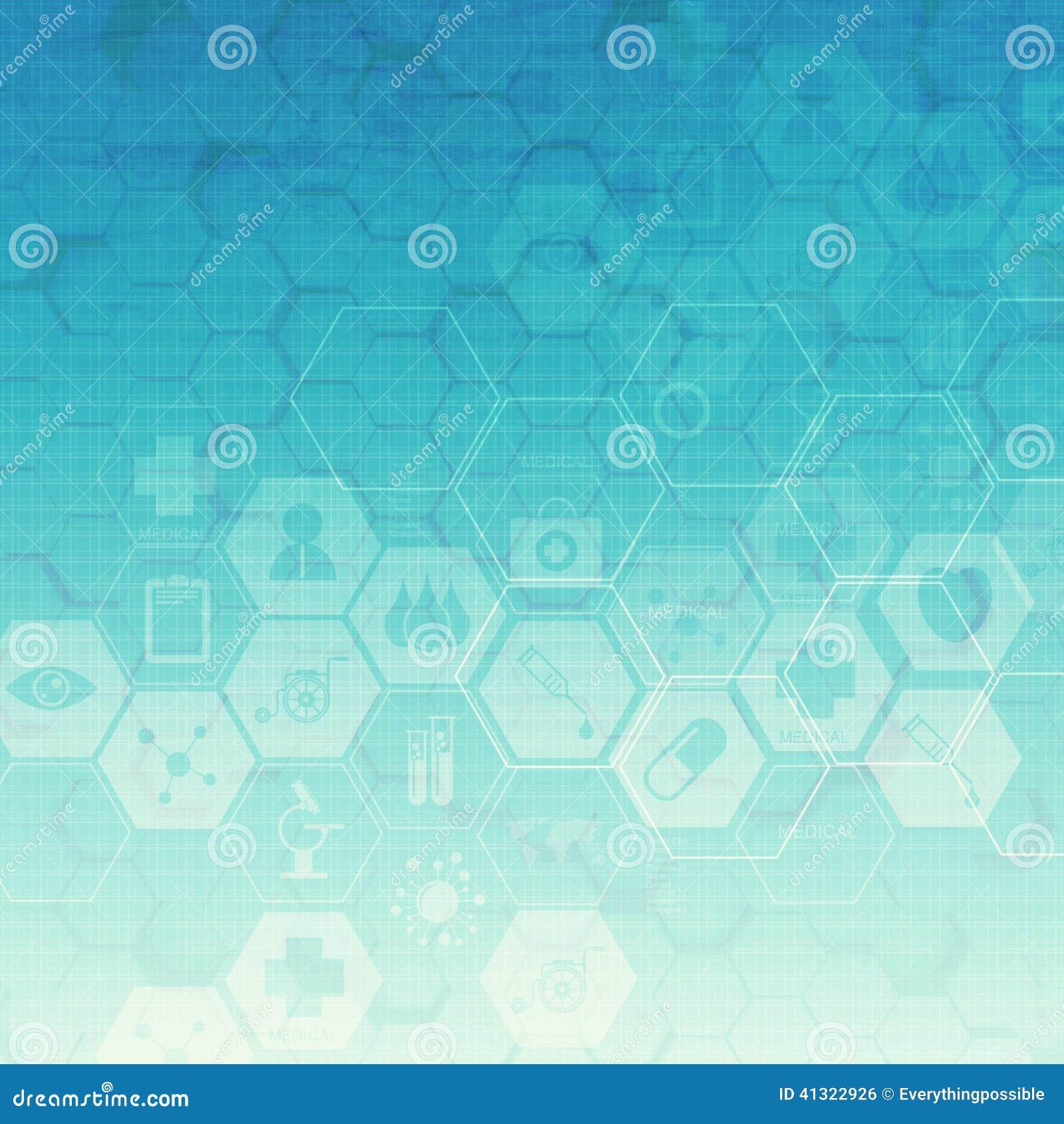 六角形抽象医疗背景