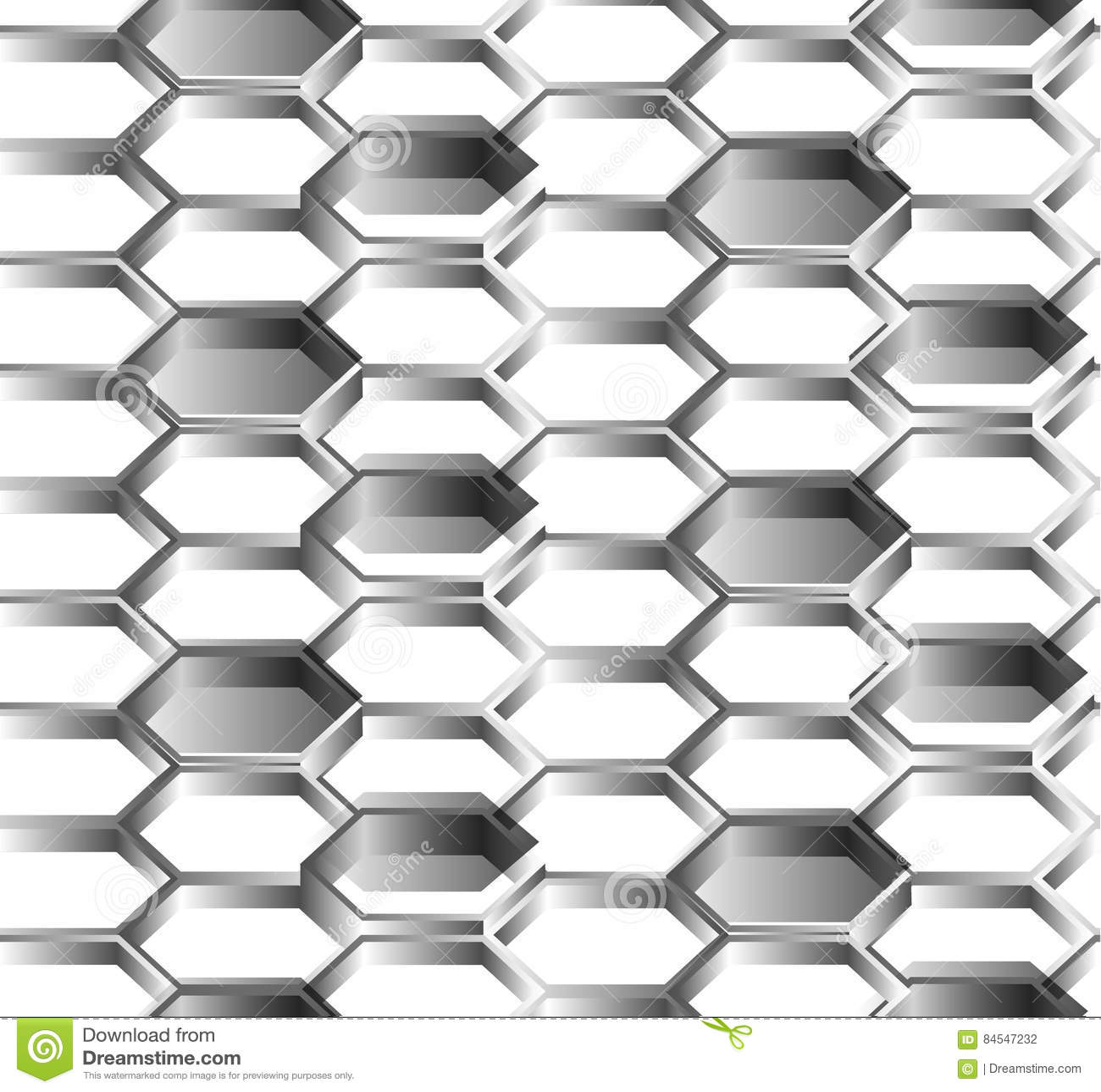 六角形无缝的白色背景