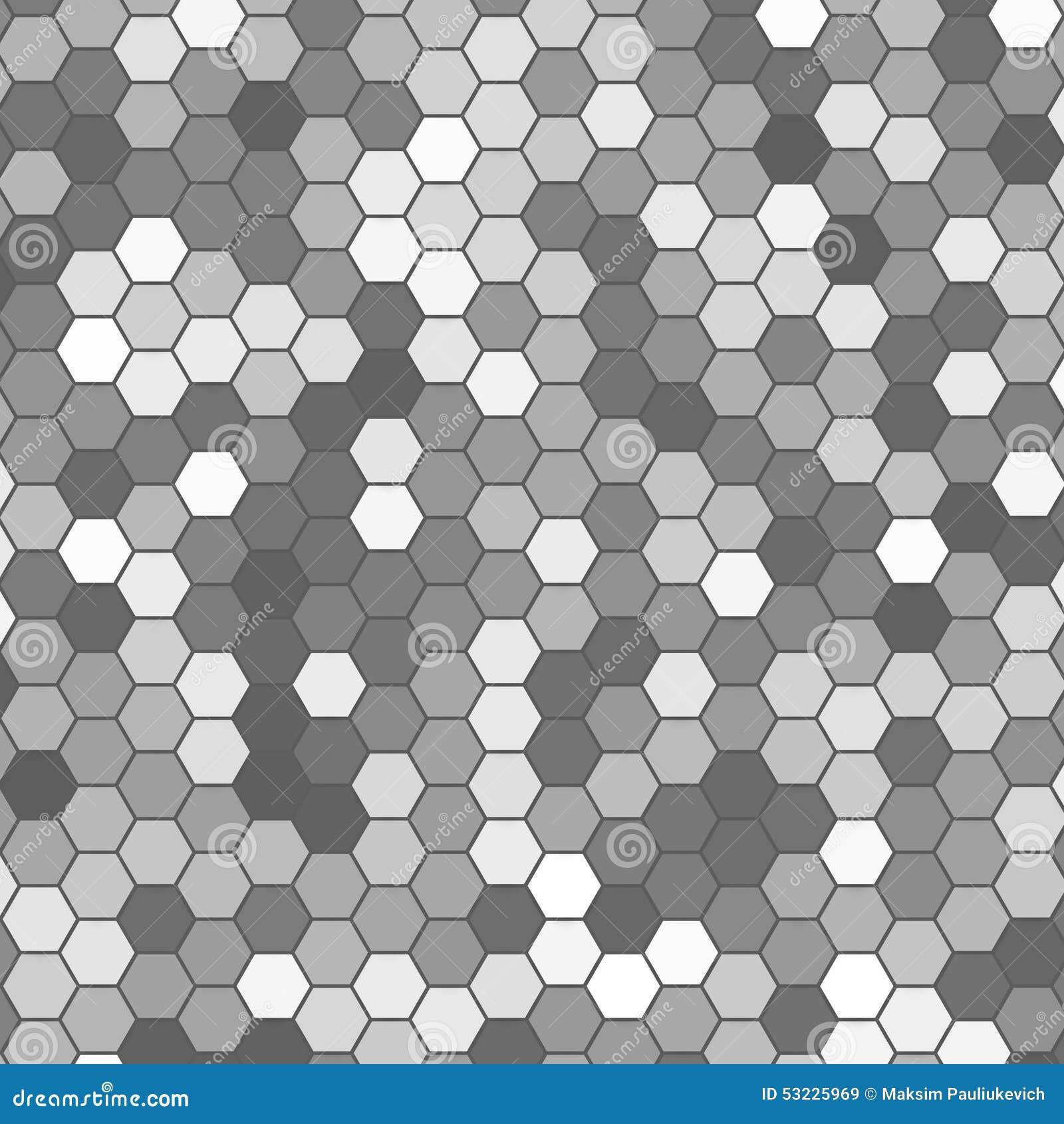 六角的传染媒介抽象3d