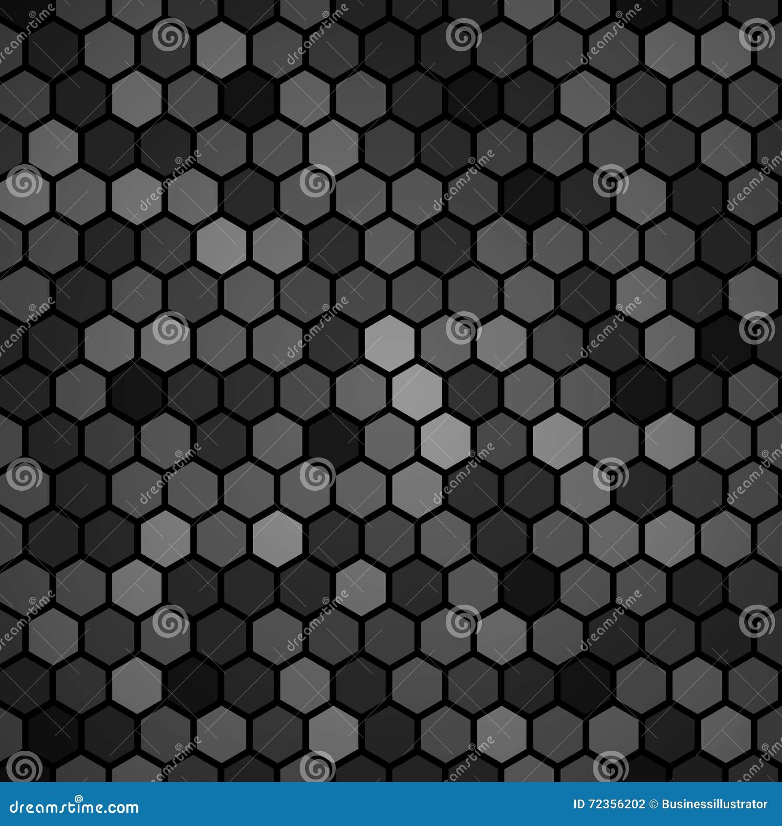 六角黑样式背景