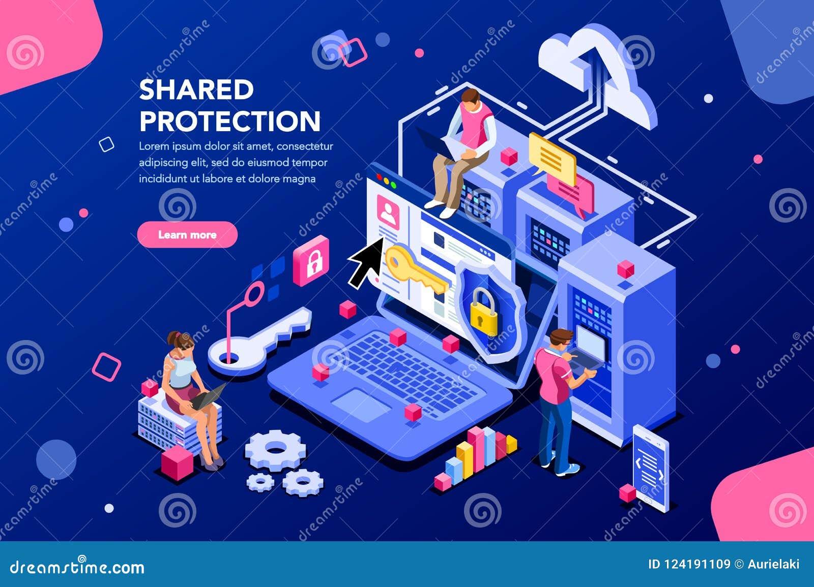 共有的保护网络主持概念