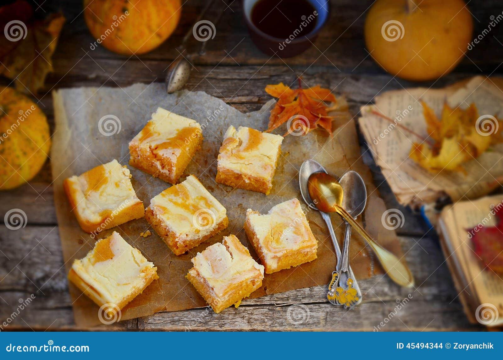 关于乳脂干酪的南瓜饼