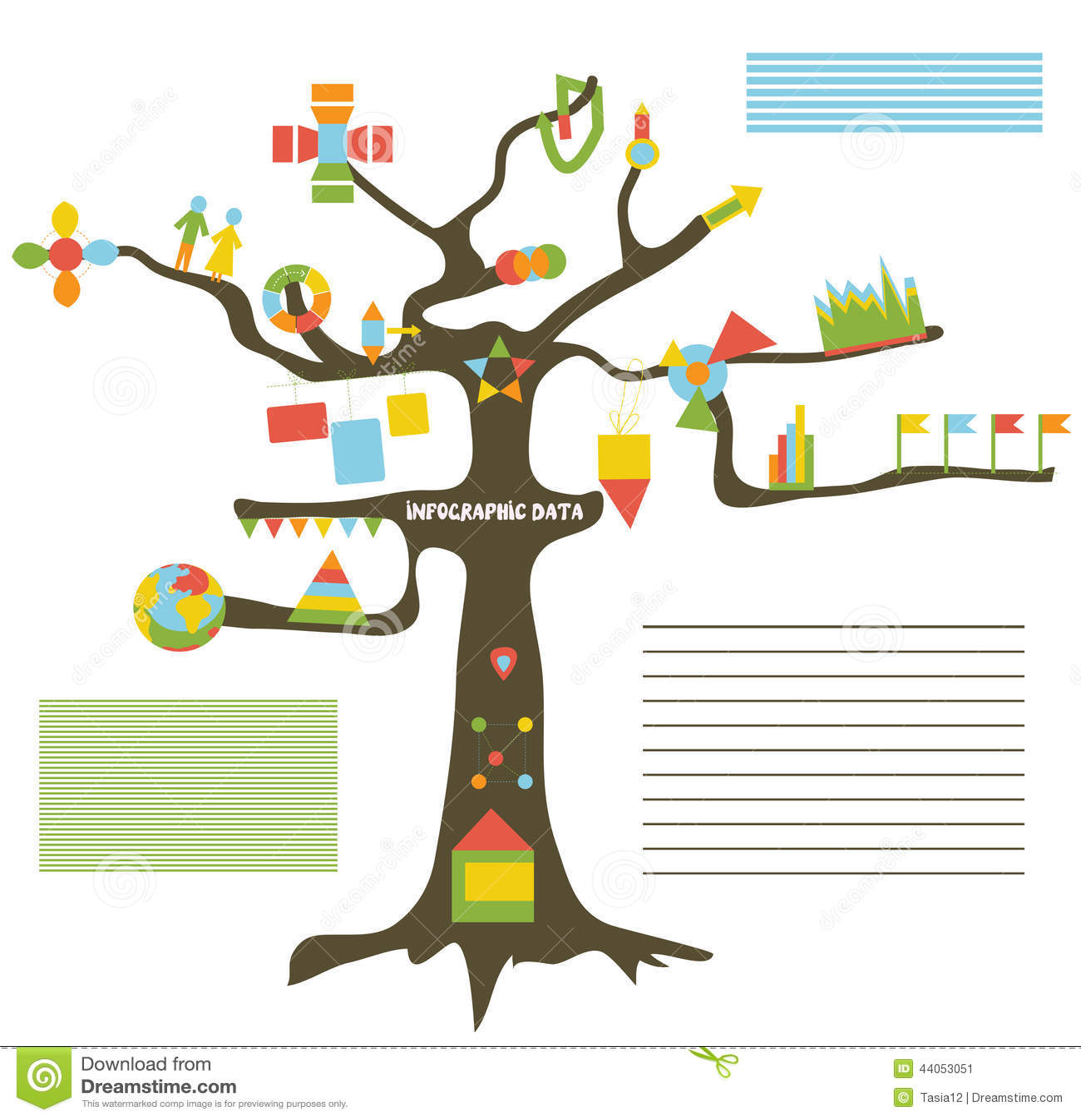 关于树的infographic数据-介绍模板.图片