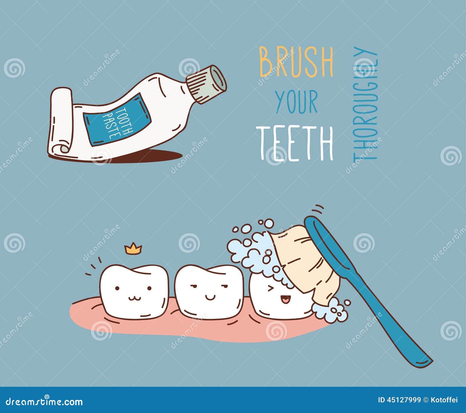 关于牙齿诊断和治疗的漫画