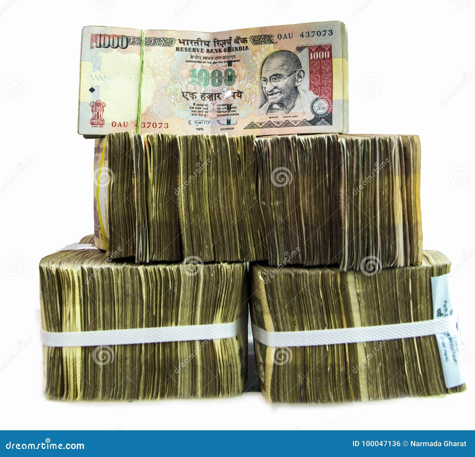 关于白色背景的印地安货币笔记
