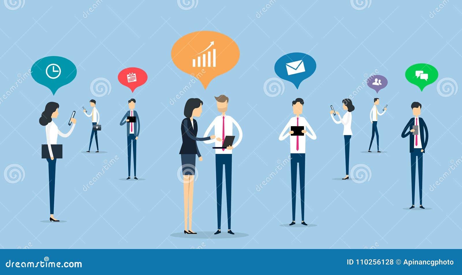 关于社会网络概念的商人通信