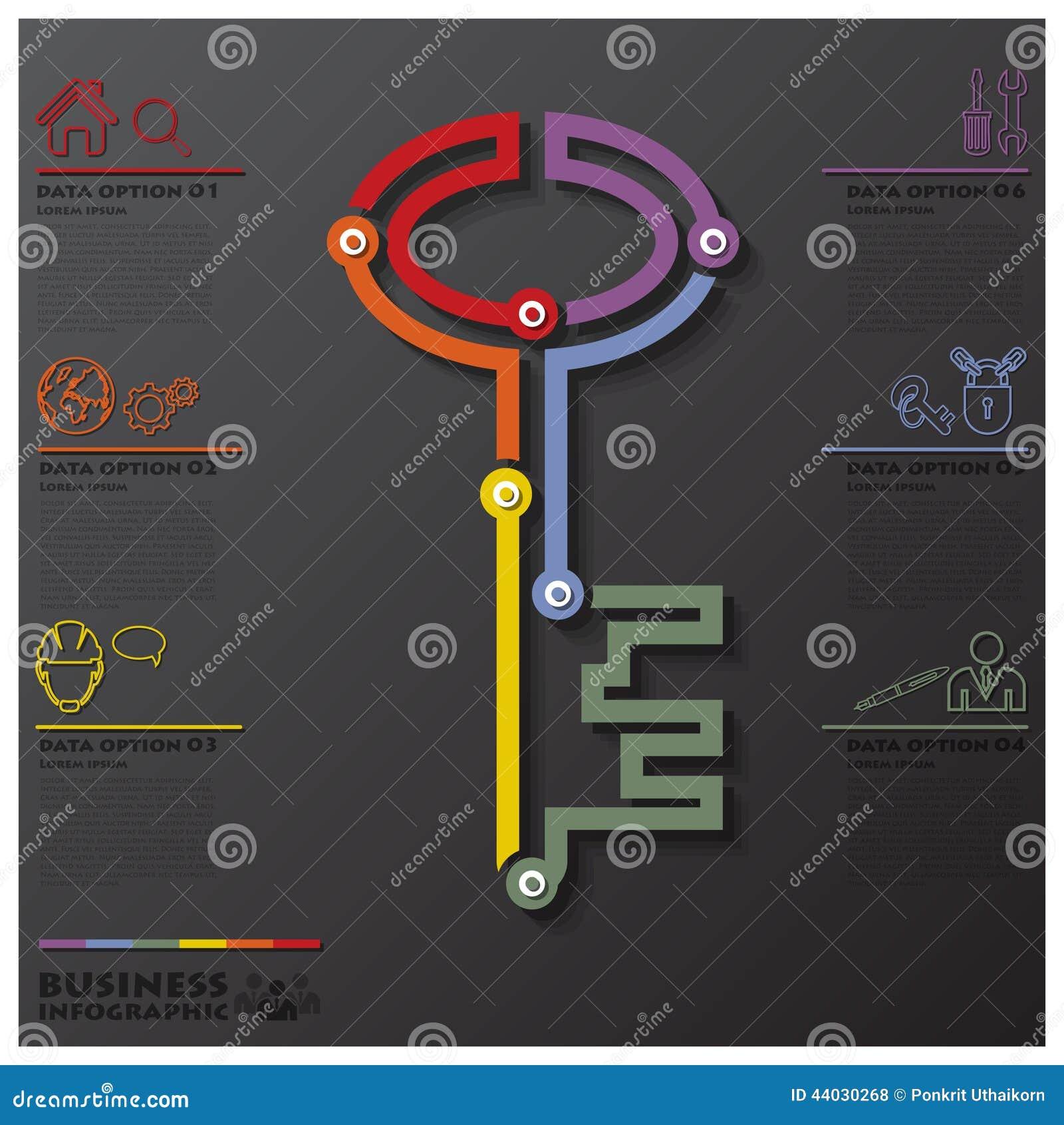 关键形状连接时间安排事务Infographic
