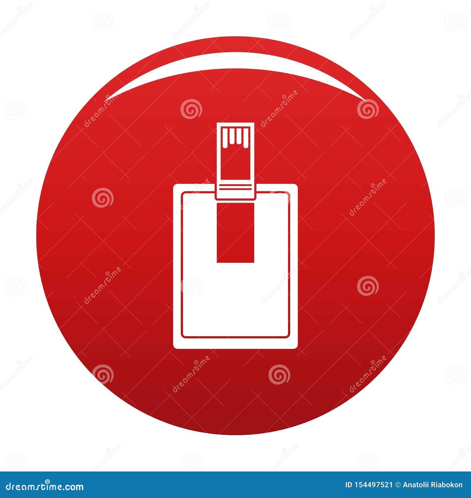 关键连接器象传染媒介红色