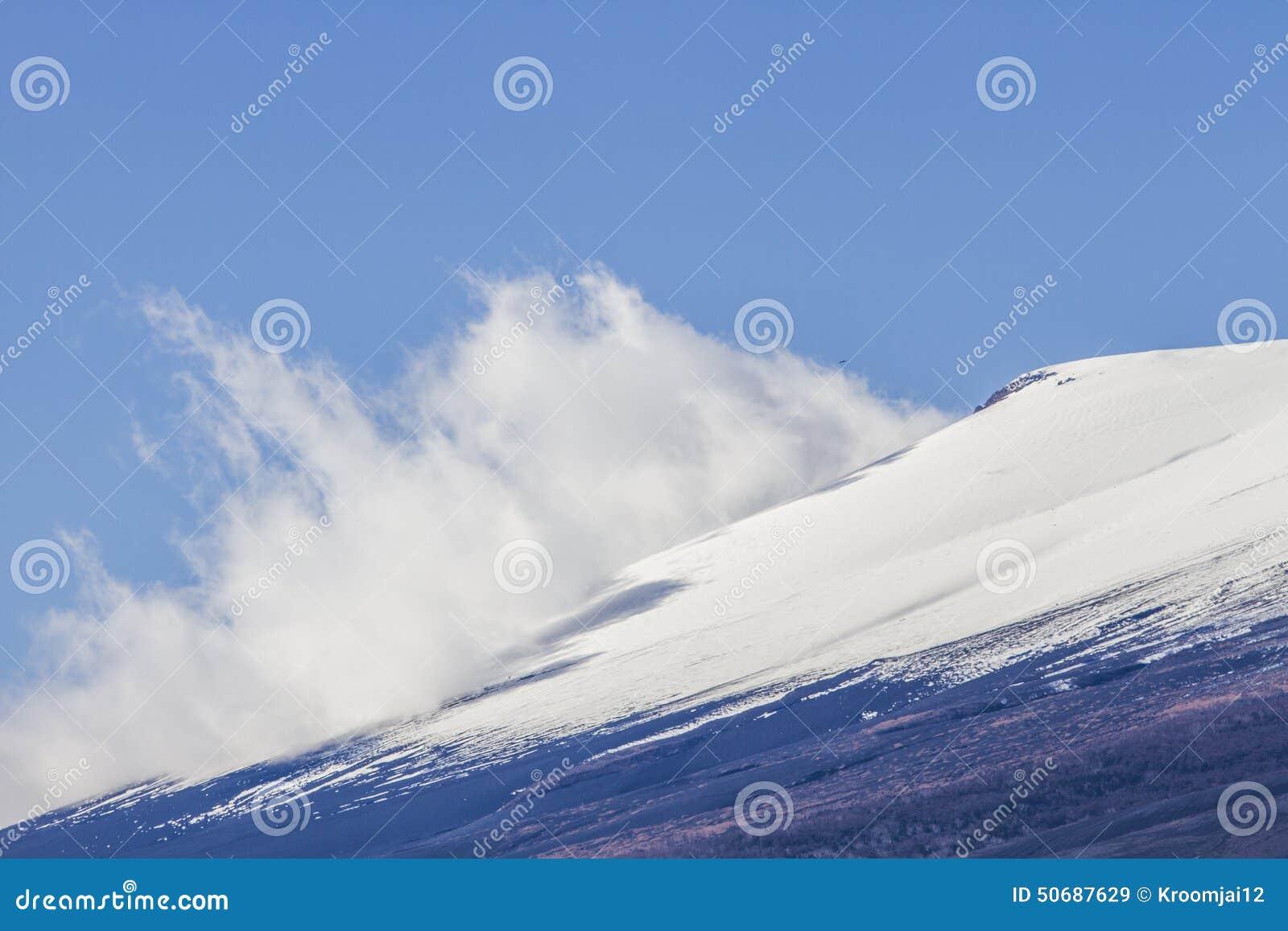 Download 关闭富士山在日本 库存图片. 图片 包括有 地标, 冬天, 关闭, 旅行, 蓝色, 空白, 背包, 岩石 - 50687629