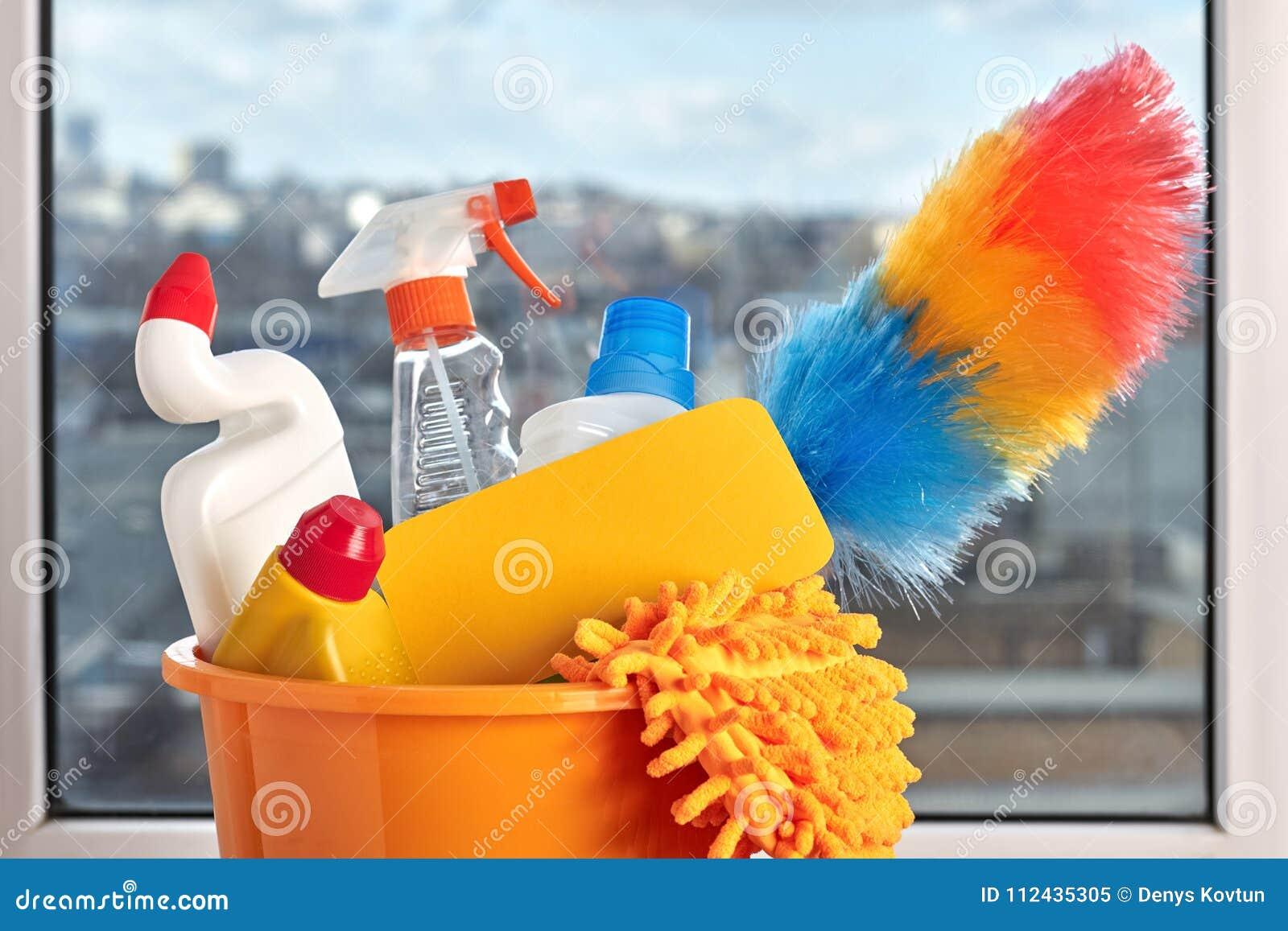 关闭清洗的五颜六色的项目