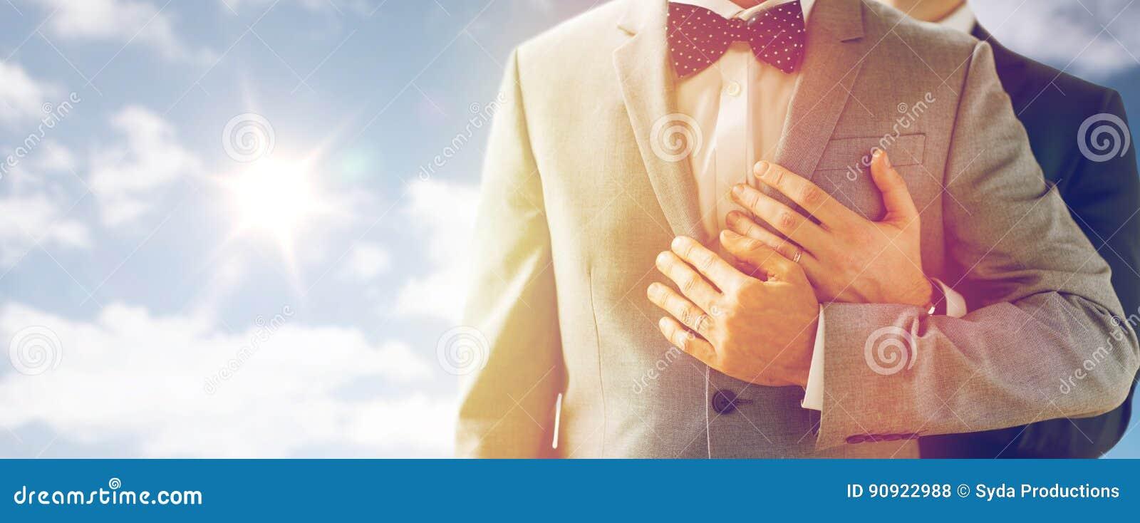 关闭男性快乐加上婚戒