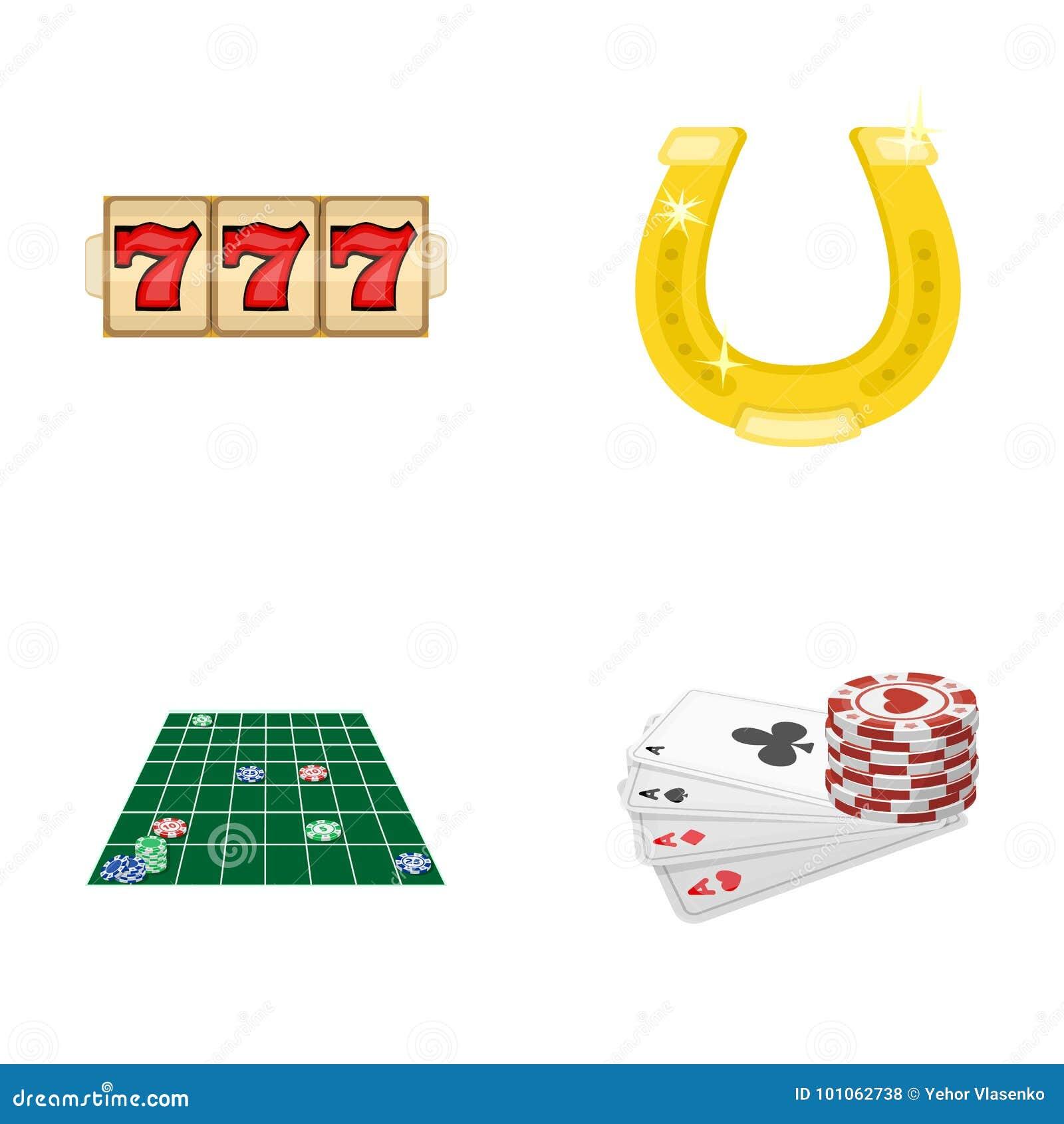 兴奋、休闲、爱好和其他网象在动画片样式 赌博娱乐场,娱乐,在集合的机关象